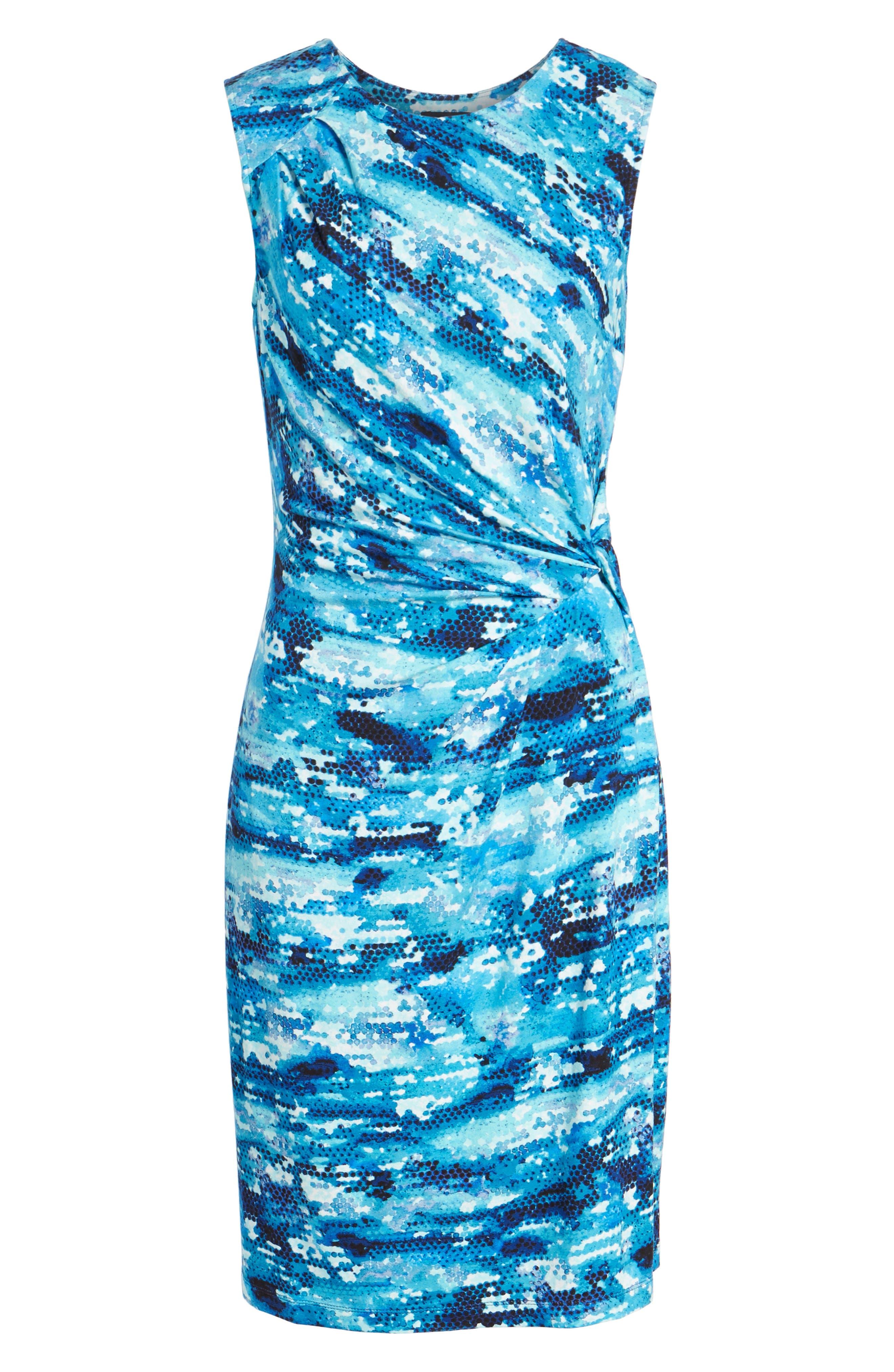 Surf Spray Sheath Dress,                             Alternate thumbnail 6, color,                             490