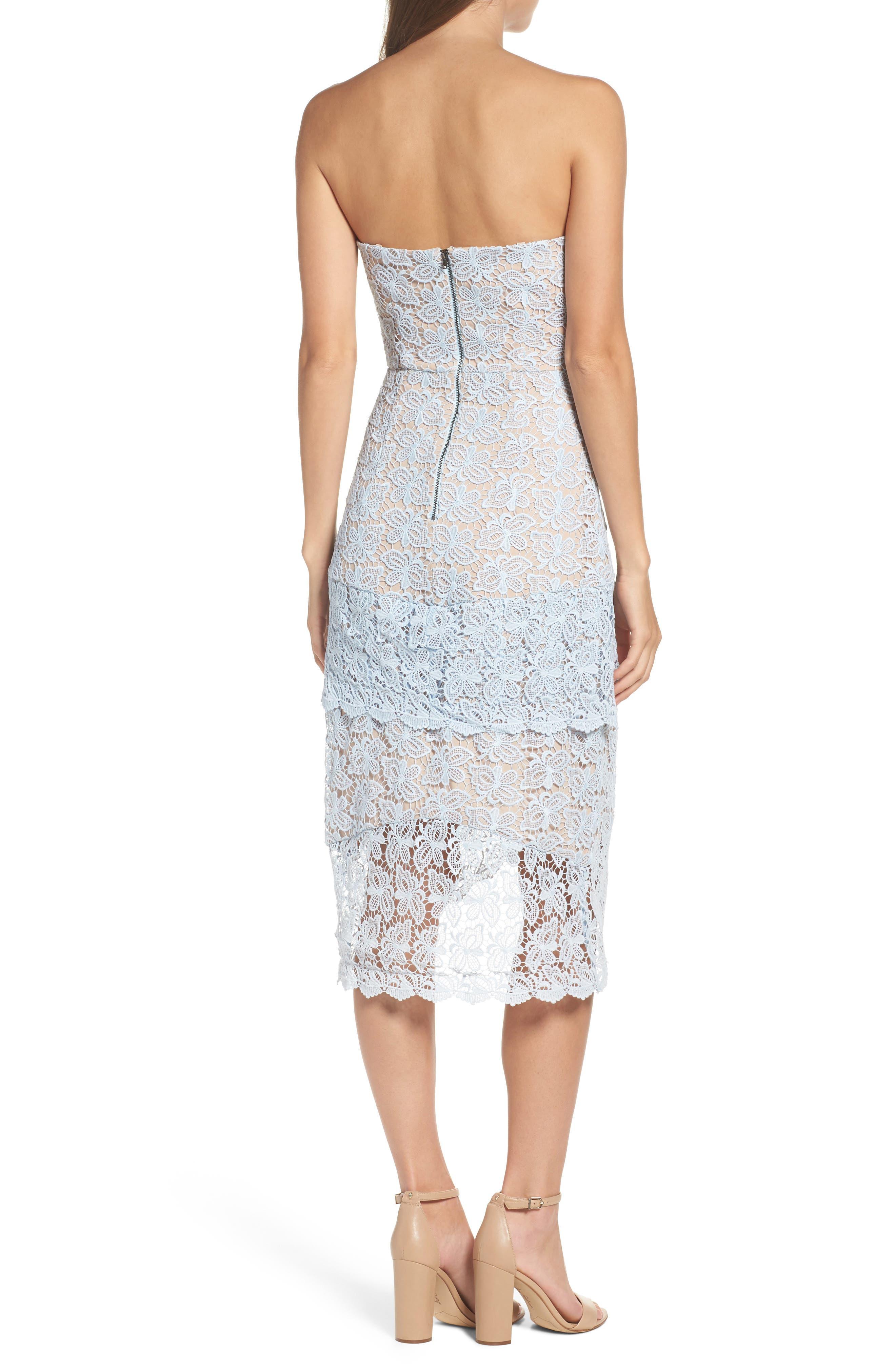 Taha Tiered Lace Midi Dress,                             Alternate thumbnail 2, color,                             452