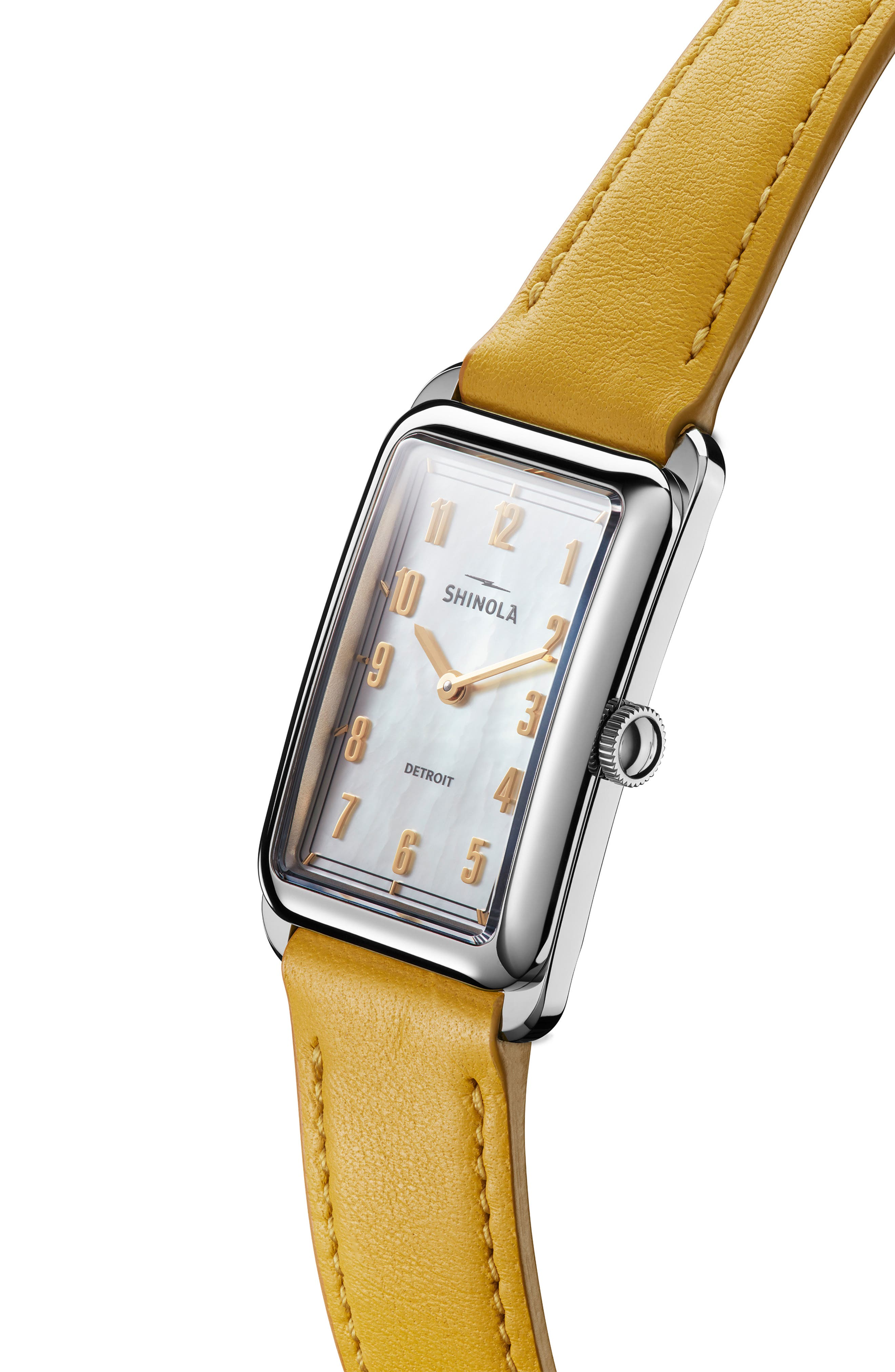 The Muldowney Rectangular Leather Strap Watch, 24mm x 32mm,                             Alternate thumbnail 22, color,