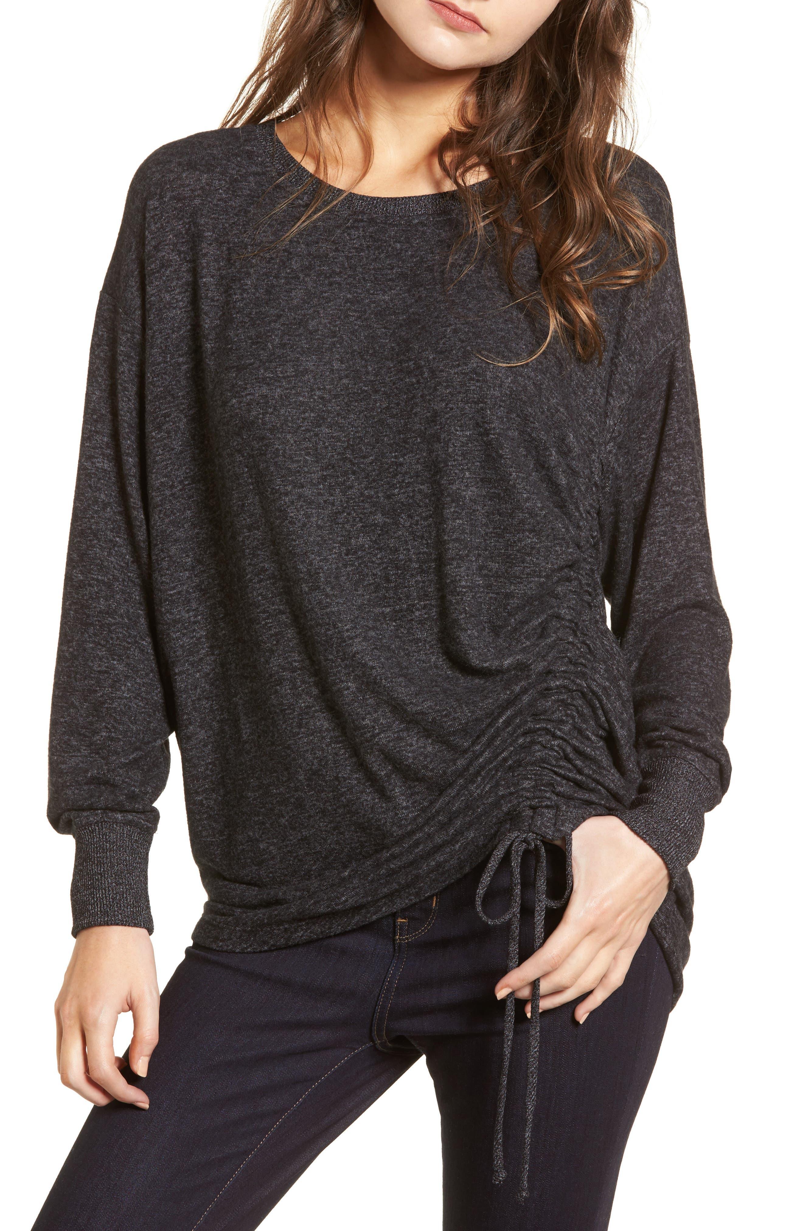 Side Cinch Sweatshirt,                             Main thumbnail 1, color,