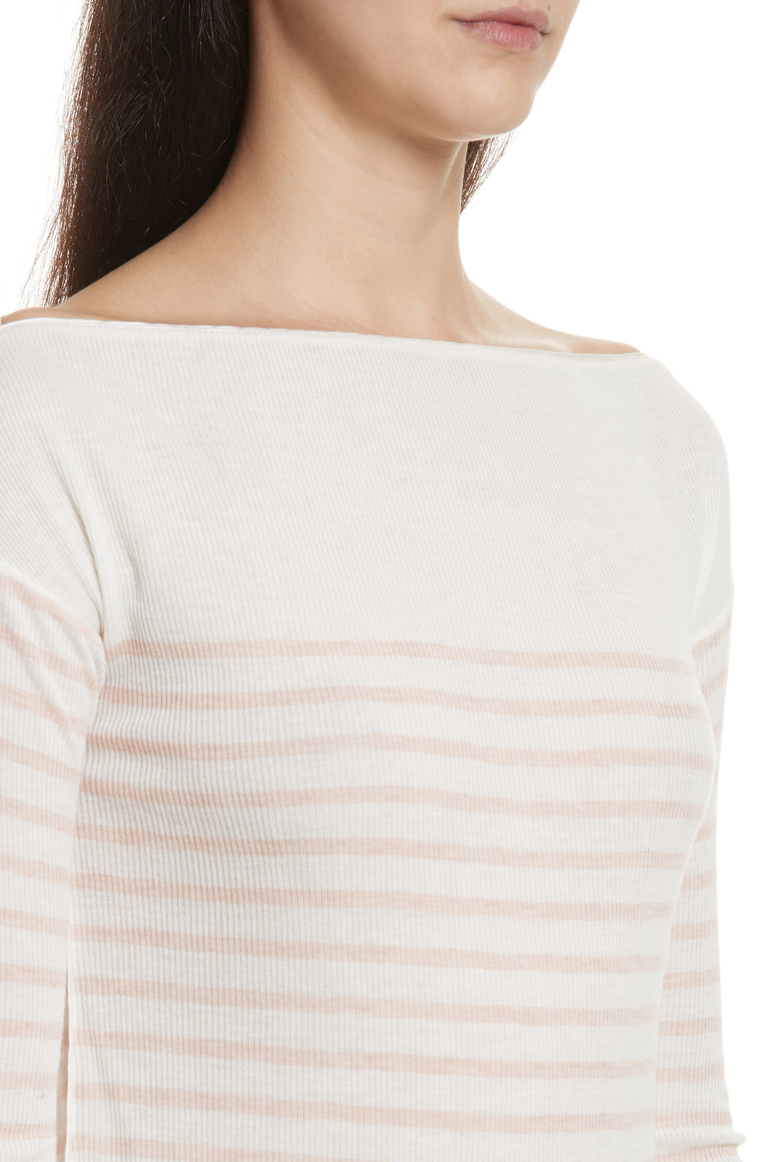 Madison Stripe Long Sleeve Top,                             Alternate thumbnail 4, color,                             900