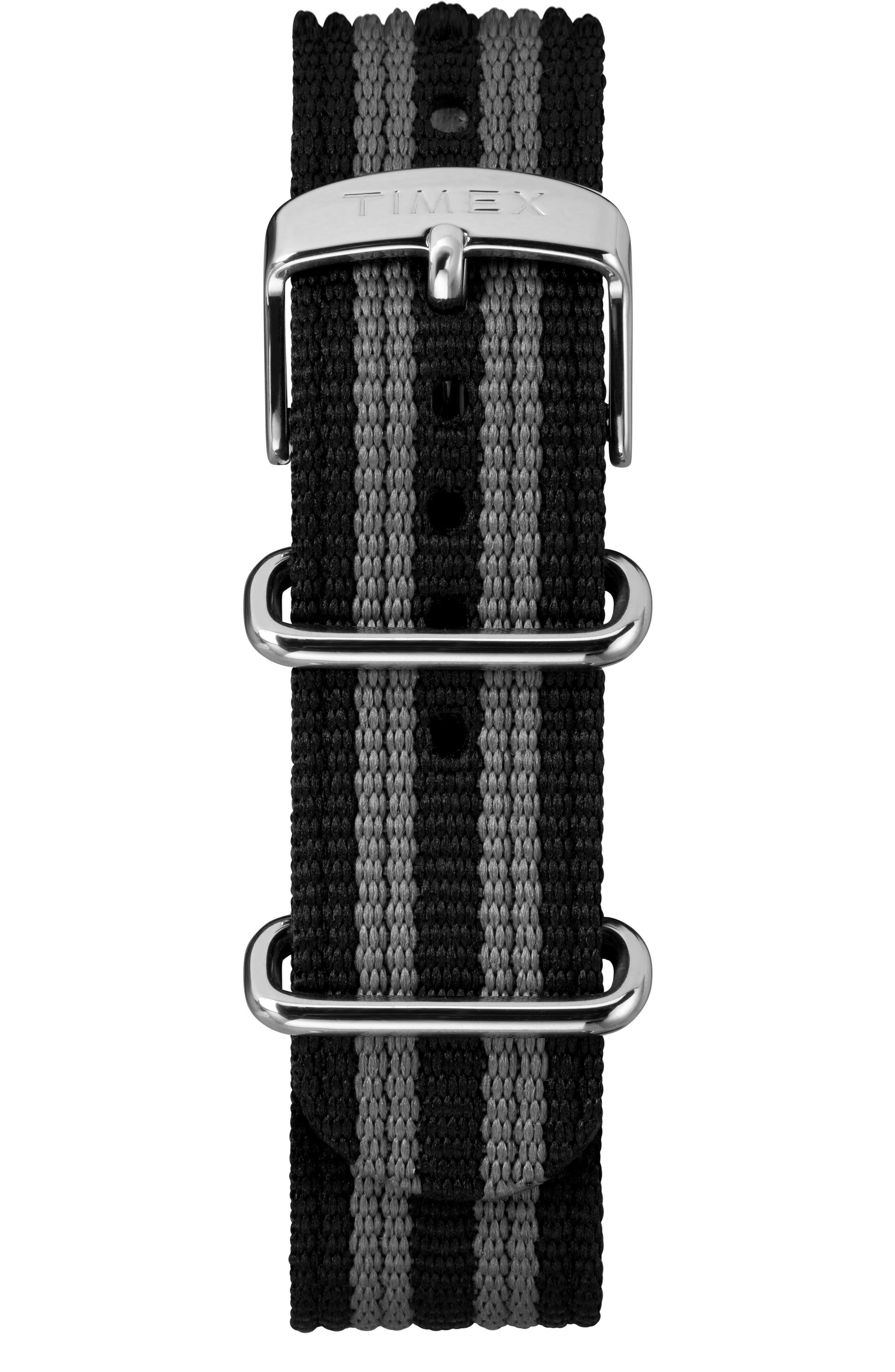 TIMEX<SUP>®</SUP> X TODD SNYDER,                             The Maritime NATO Strap Watch, 41mm,                             Alternate thumbnail 3, color,                             BLACK/ BLACK