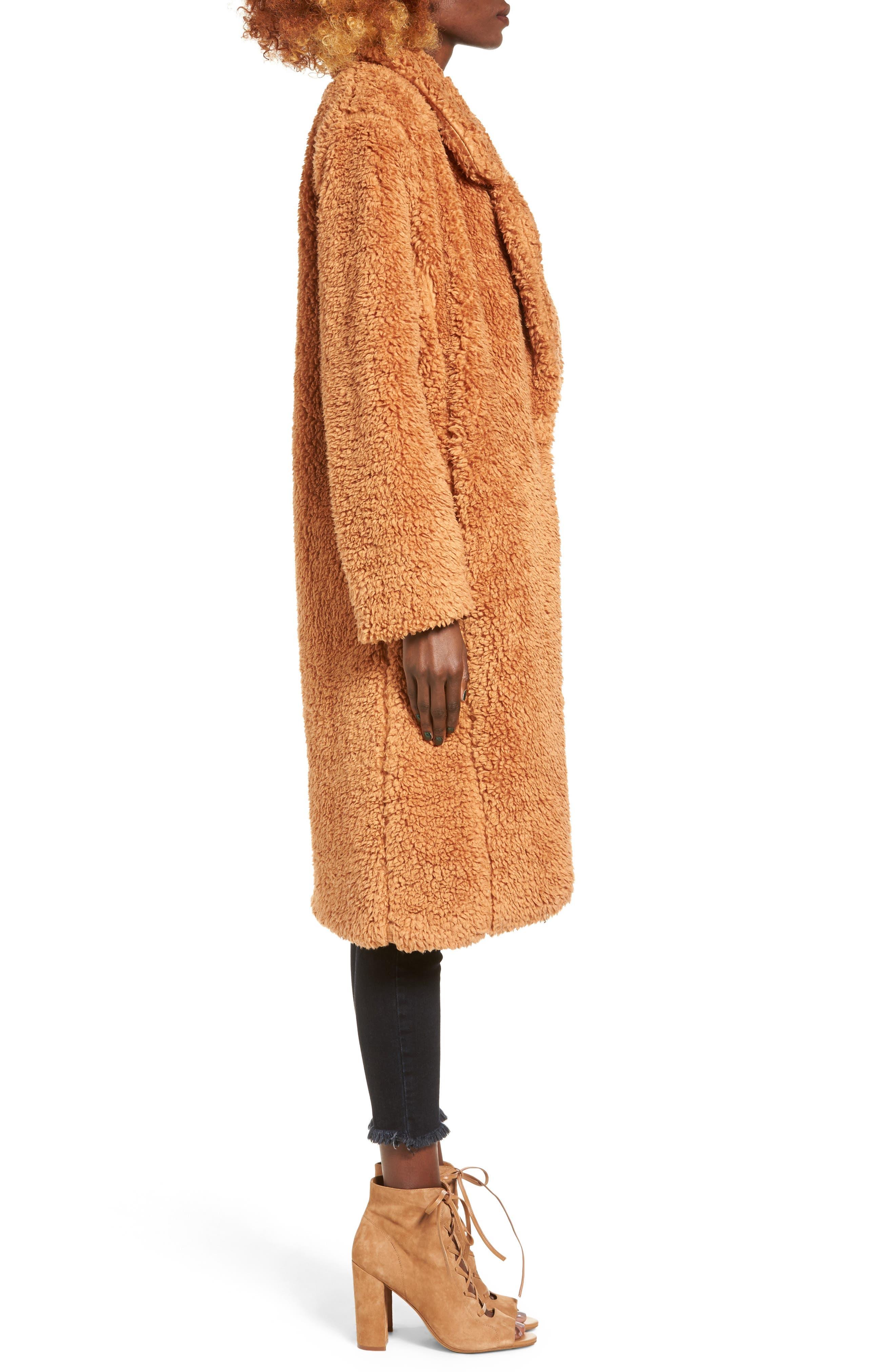 Violet Teddy Bear Coat,                             Alternate thumbnail 10, color,