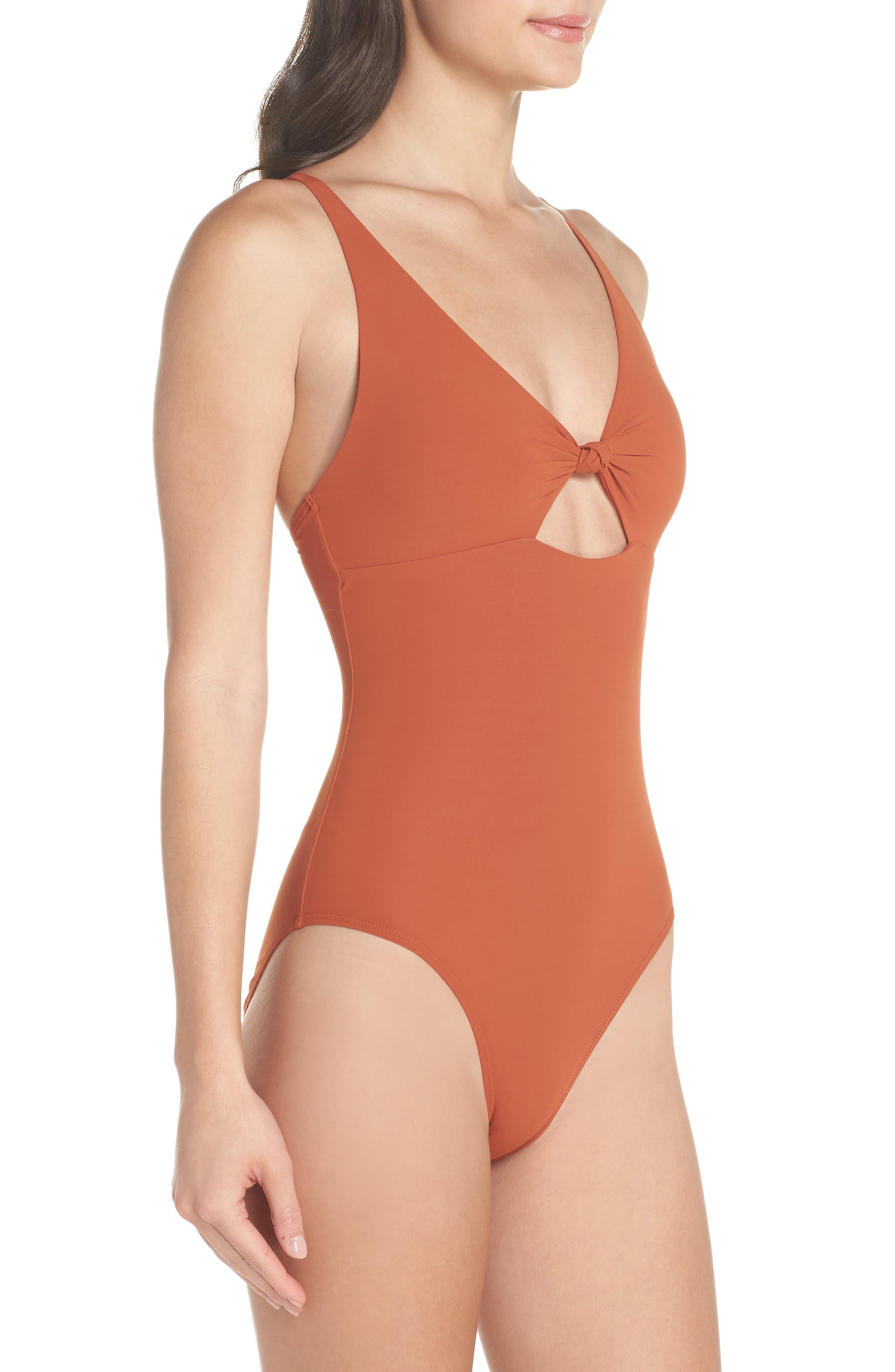 Palma One-Piece Swimsuit,                             Alternate thumbnail 3, color,                             DESERT SPICE