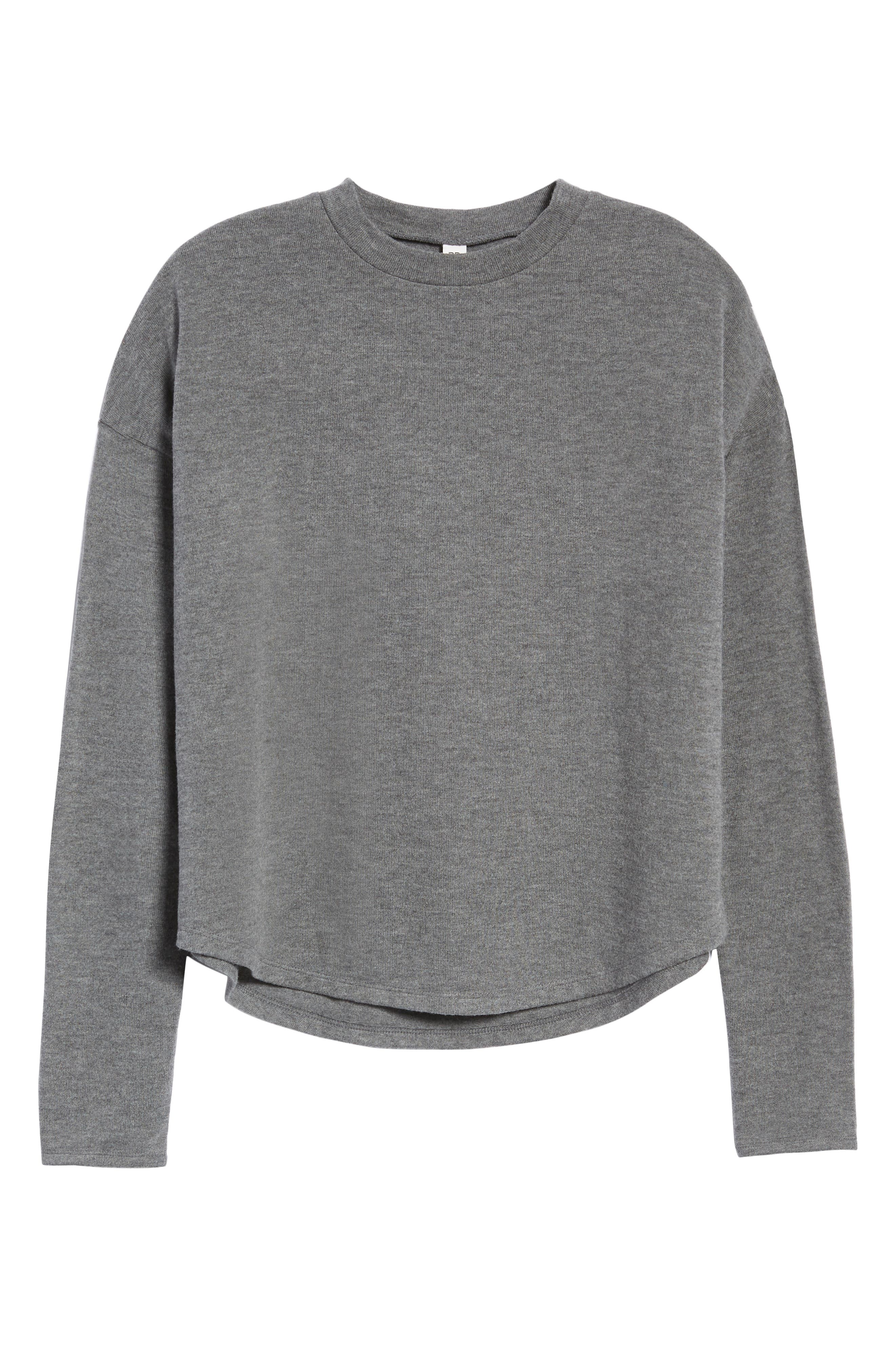Drop Shoulder Tee,                             Alternate thumbnail 6, color,                             GREY CHARCOAL HEATHER