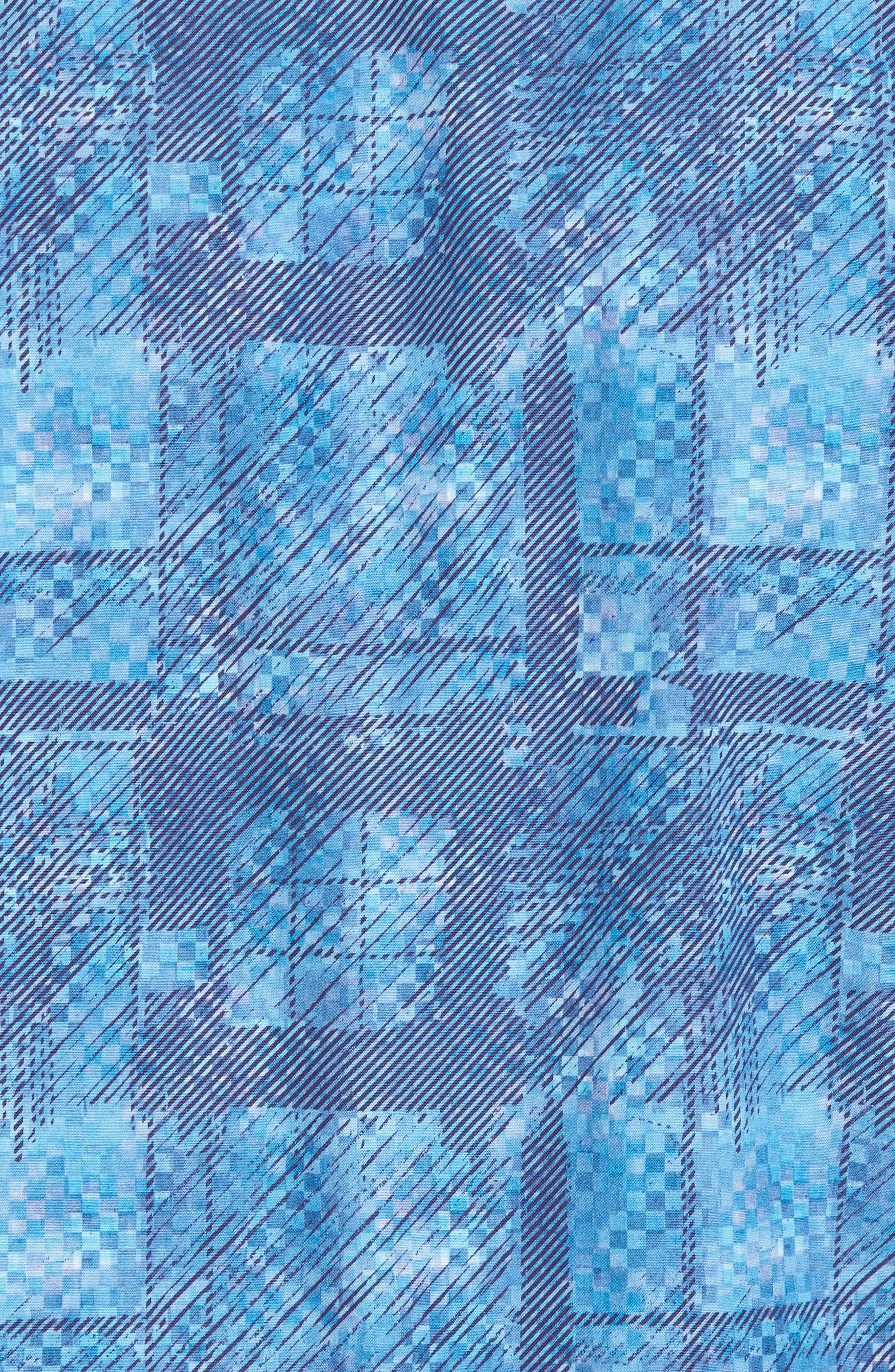 Shaped Fit Print Sport Shirt,                             Alternate thumbnail 5, color,                             425