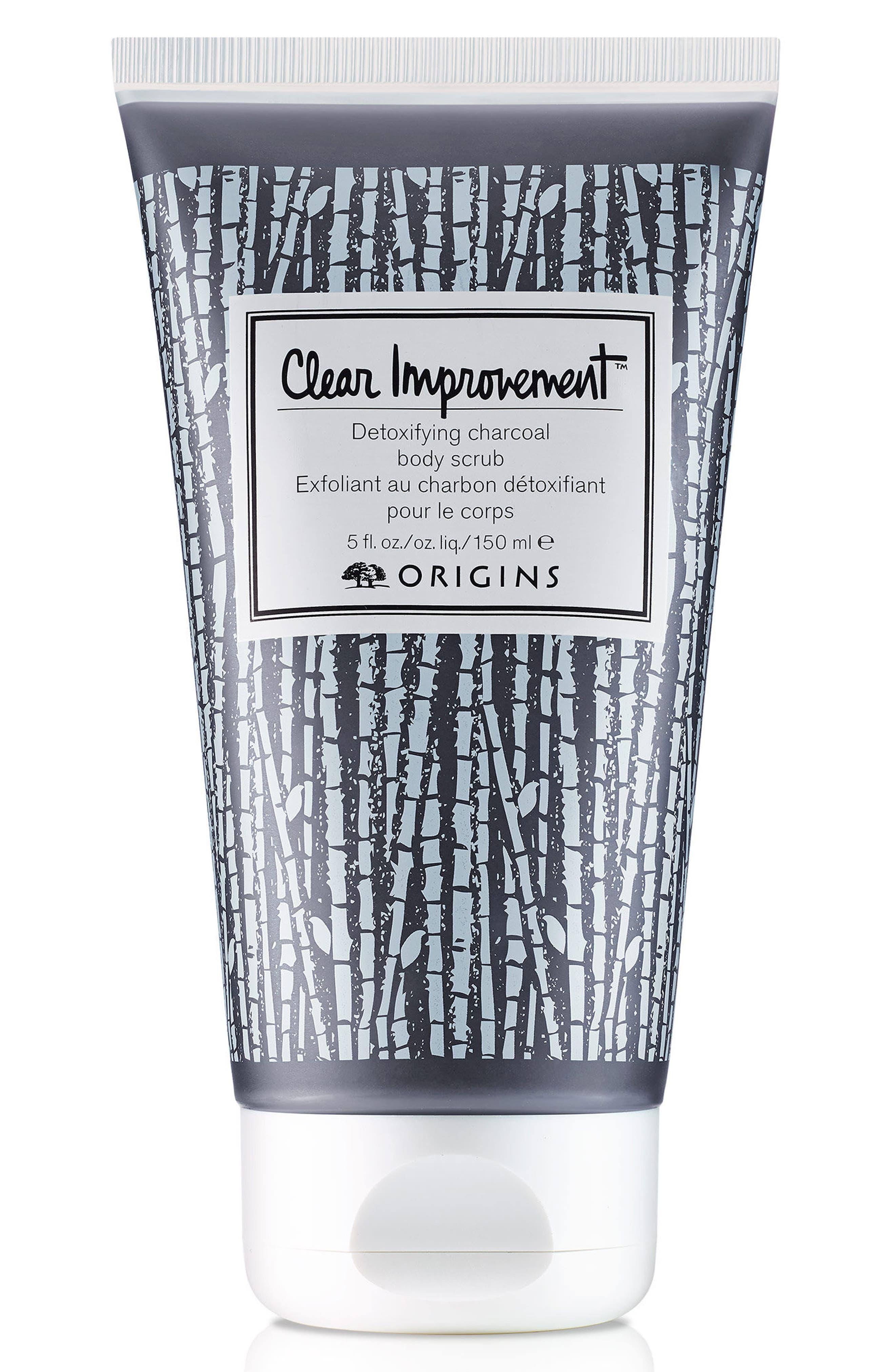 ORIGINS Clear Improvement<sup>™</sup> Detoxifying Charcoal Body Scrub, Main, color, NO COLOR