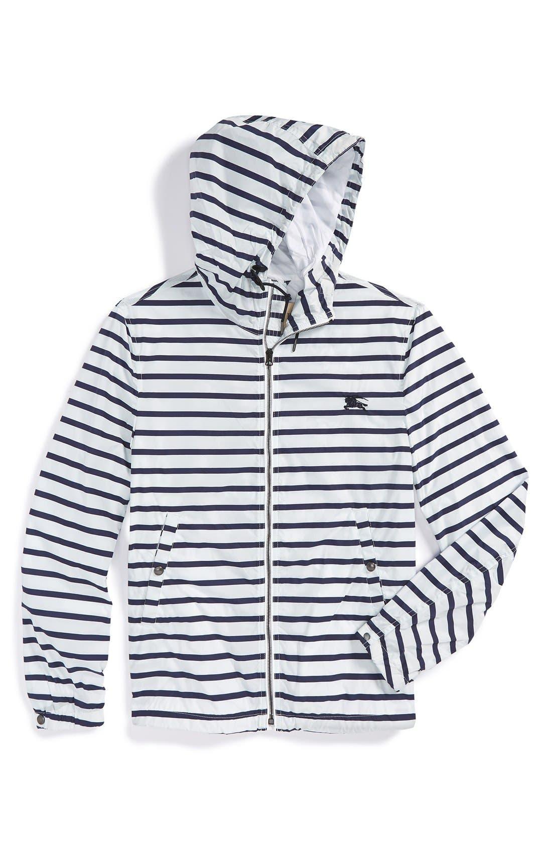 BURBERRY,                             Brit 'Kelson' Stripe Jacket,                             Alternate thumbnail 2, color,                             100