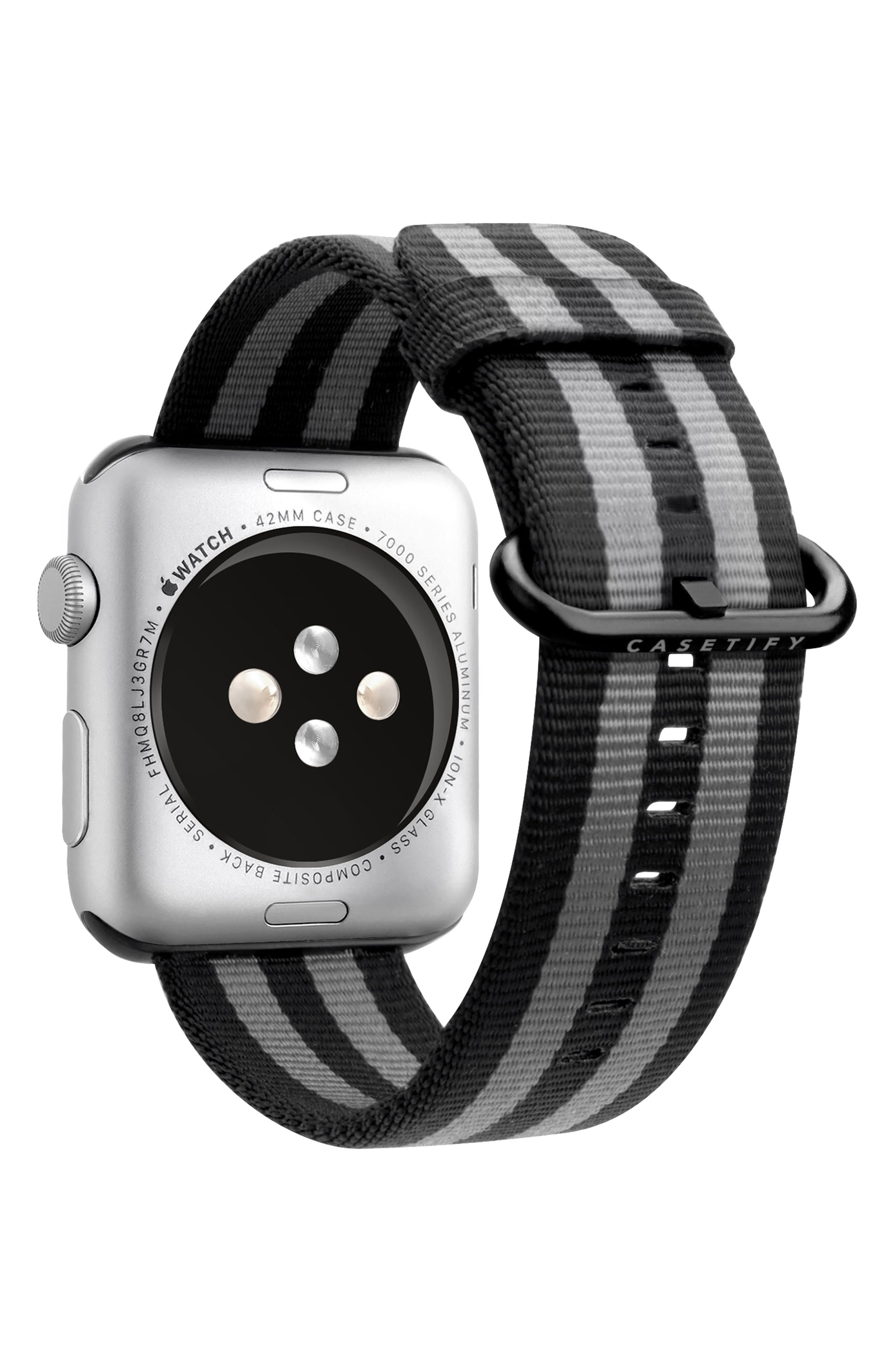 Nylon Apple Watch Strap, 38mm,                             Alternate thumbnail 18, color,