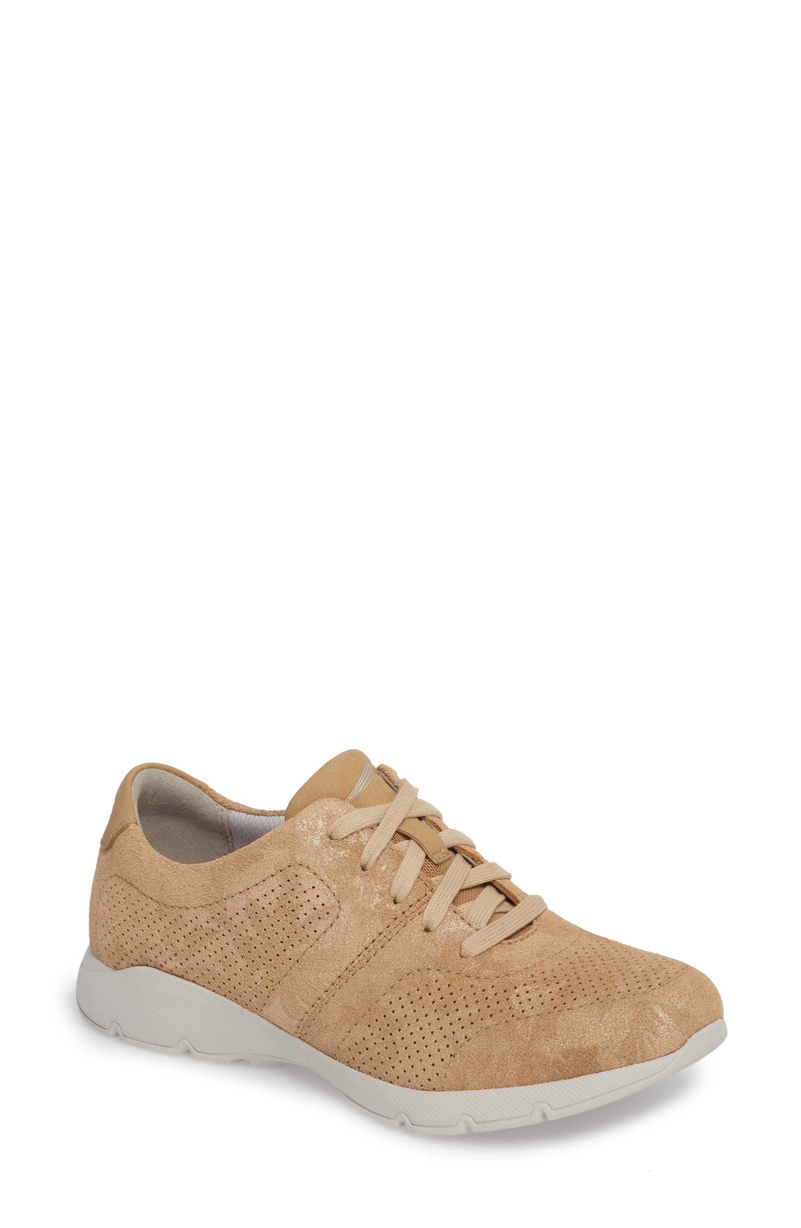 Alissa Sneaker,                         Main,                         color, GOLD PRINT LEATHER