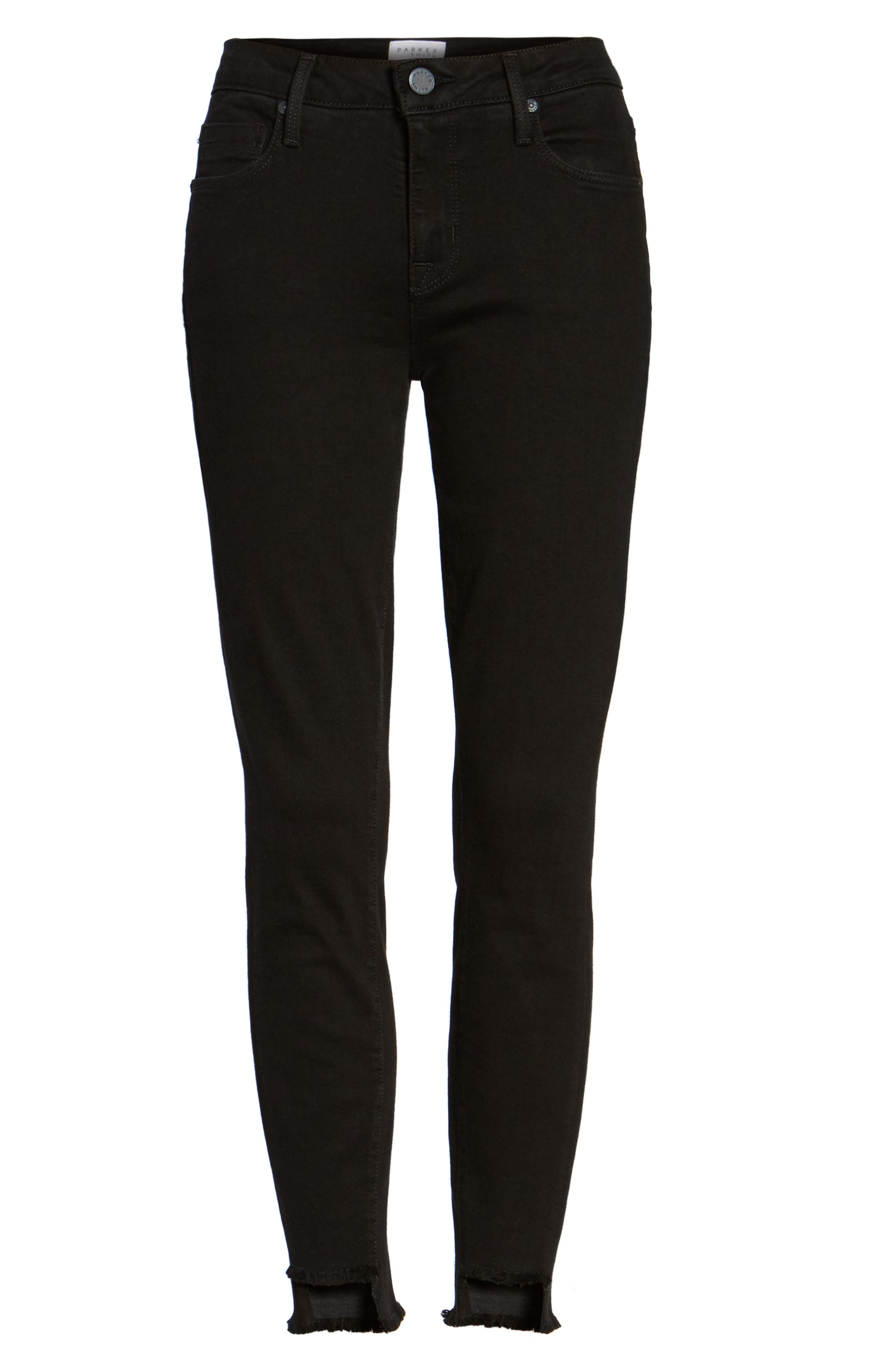 Twisted Seam Ankle Skinny Jeans,                             Alternate thumbnail 6, color,                             001