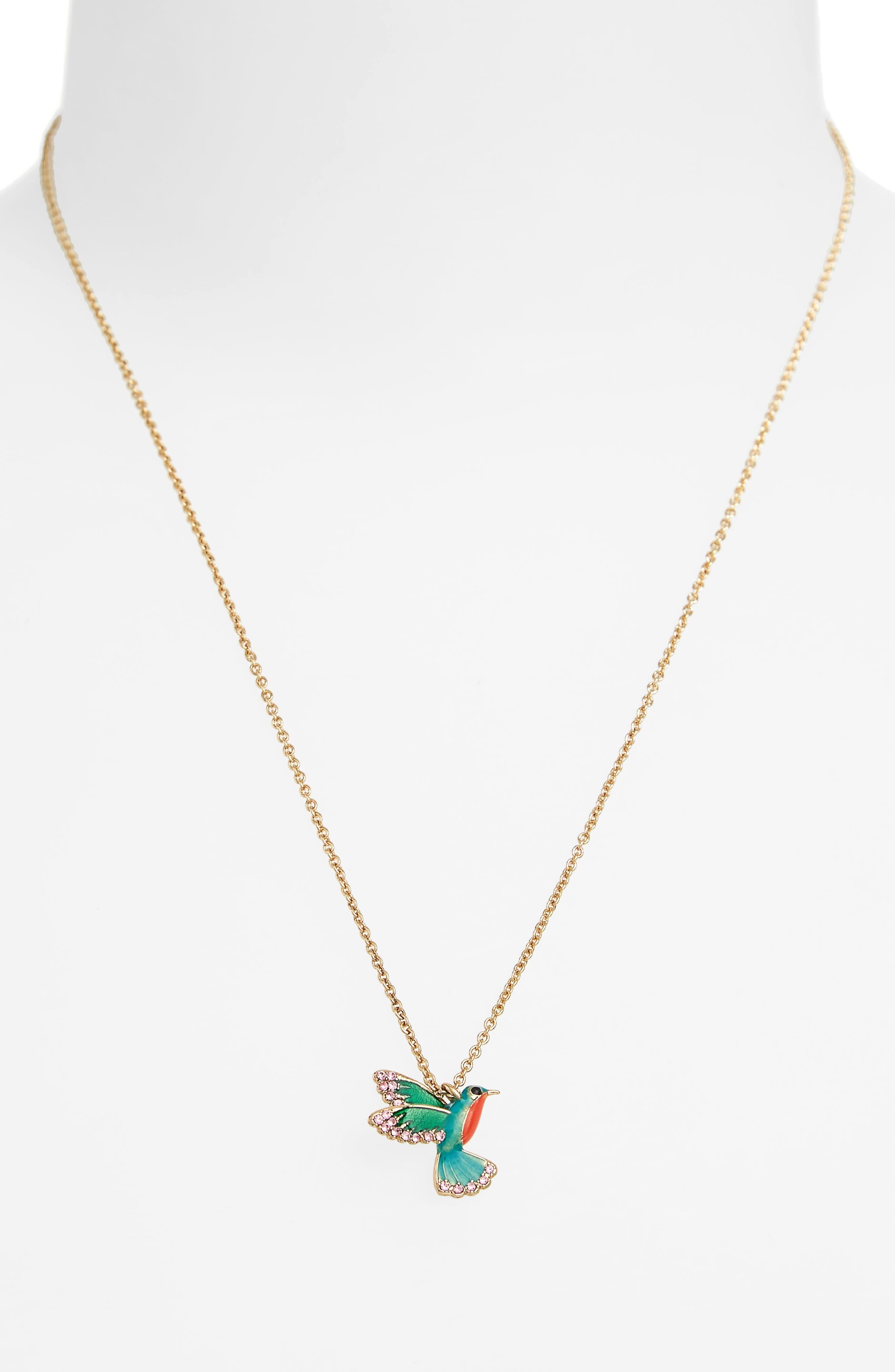 hummingbird pendant necklace,                             Alternate thumbnail 2, color,                             710