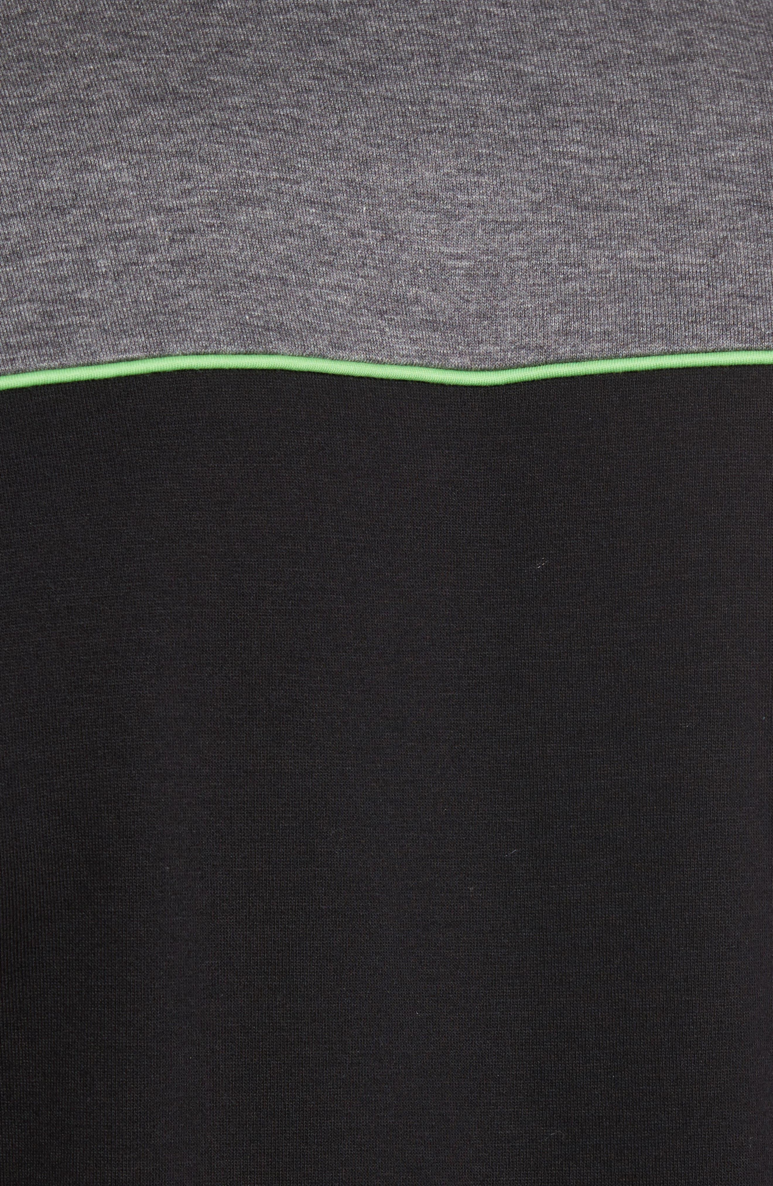 BOSS GREEN,                             Skaz Full Zip Fleece Jacket,                             Alternate thumbnail 5, color,                             001