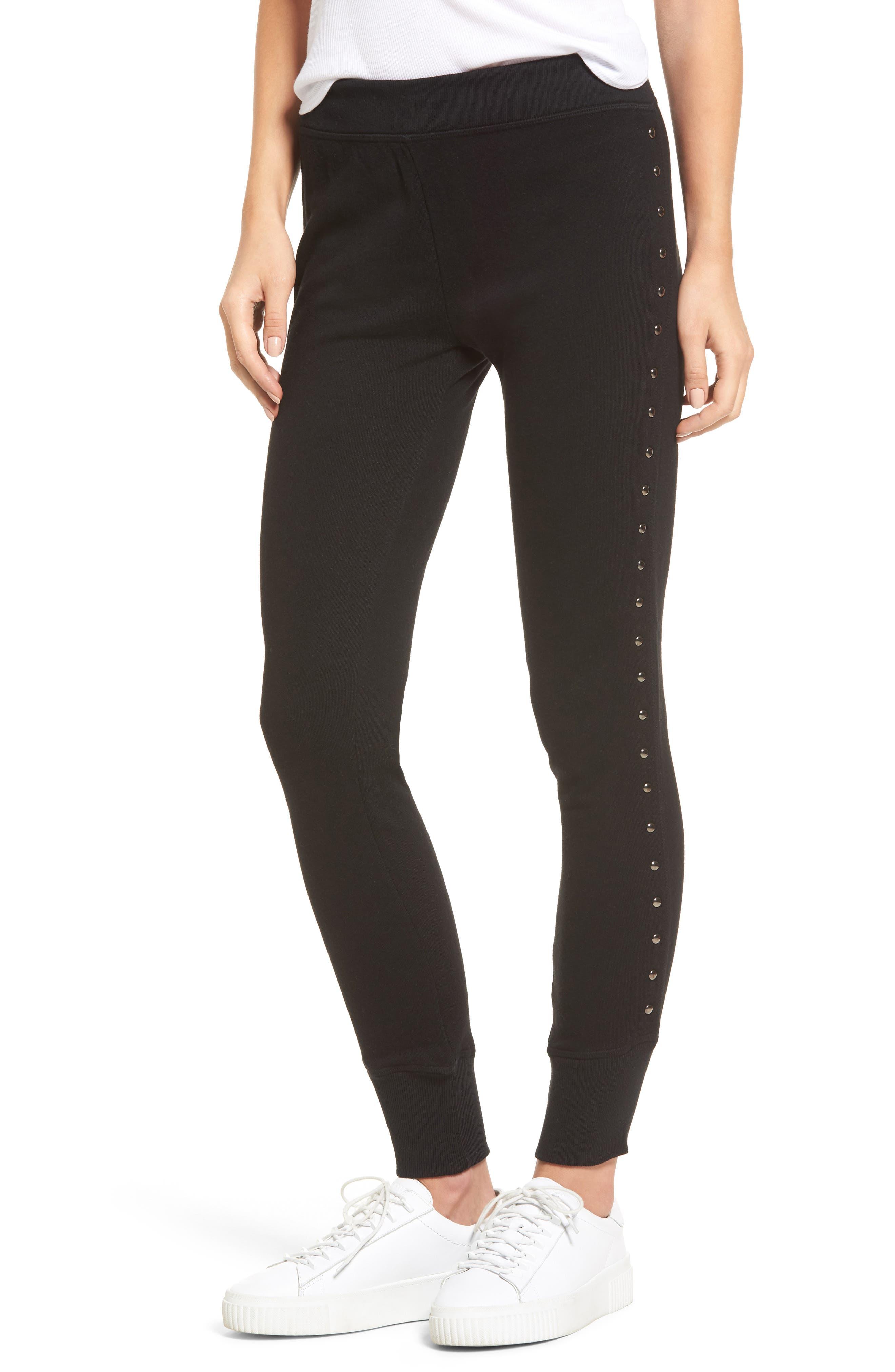 Joss Studded Sweatpants,                         Main,                         color, 001