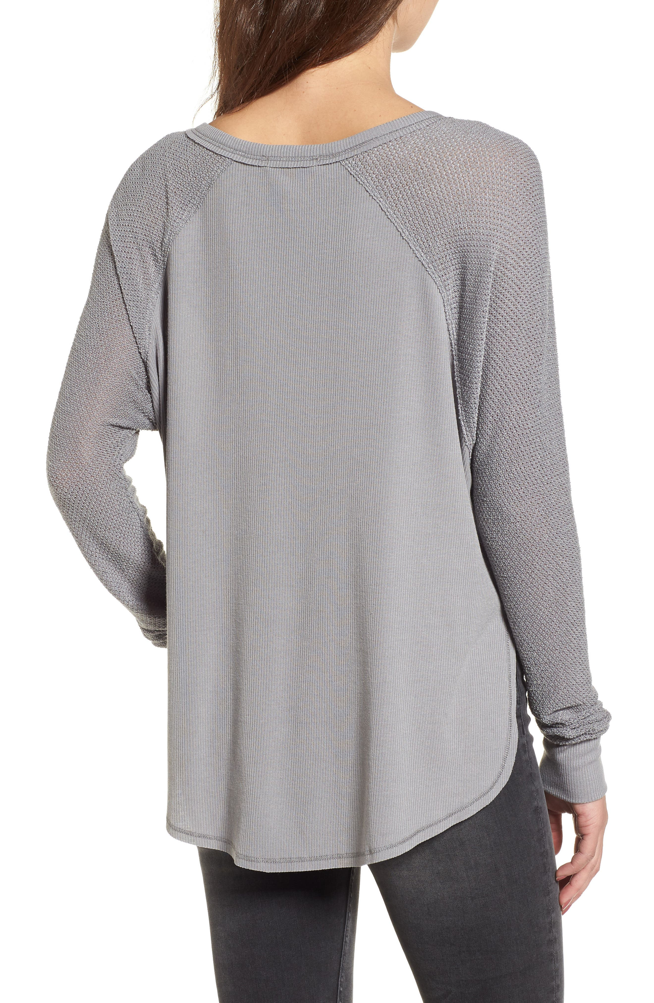 Contrast Sleeve Thermal Top,                             Alternate thumbnail 2, color,                             050
