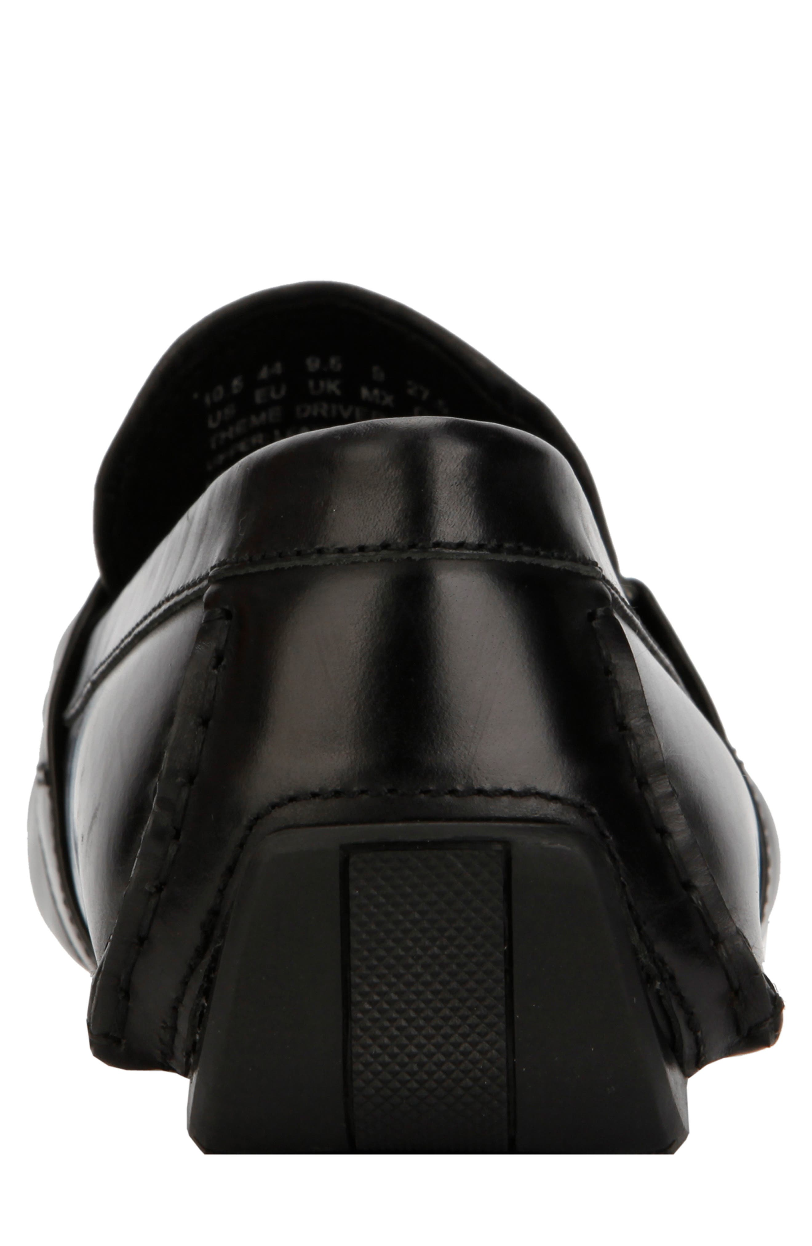 KENNETH COLE NEW YORK,                             Theme Driving Shoe,                             Alternate thumbnail 5, color,                             BLACK LEATHER