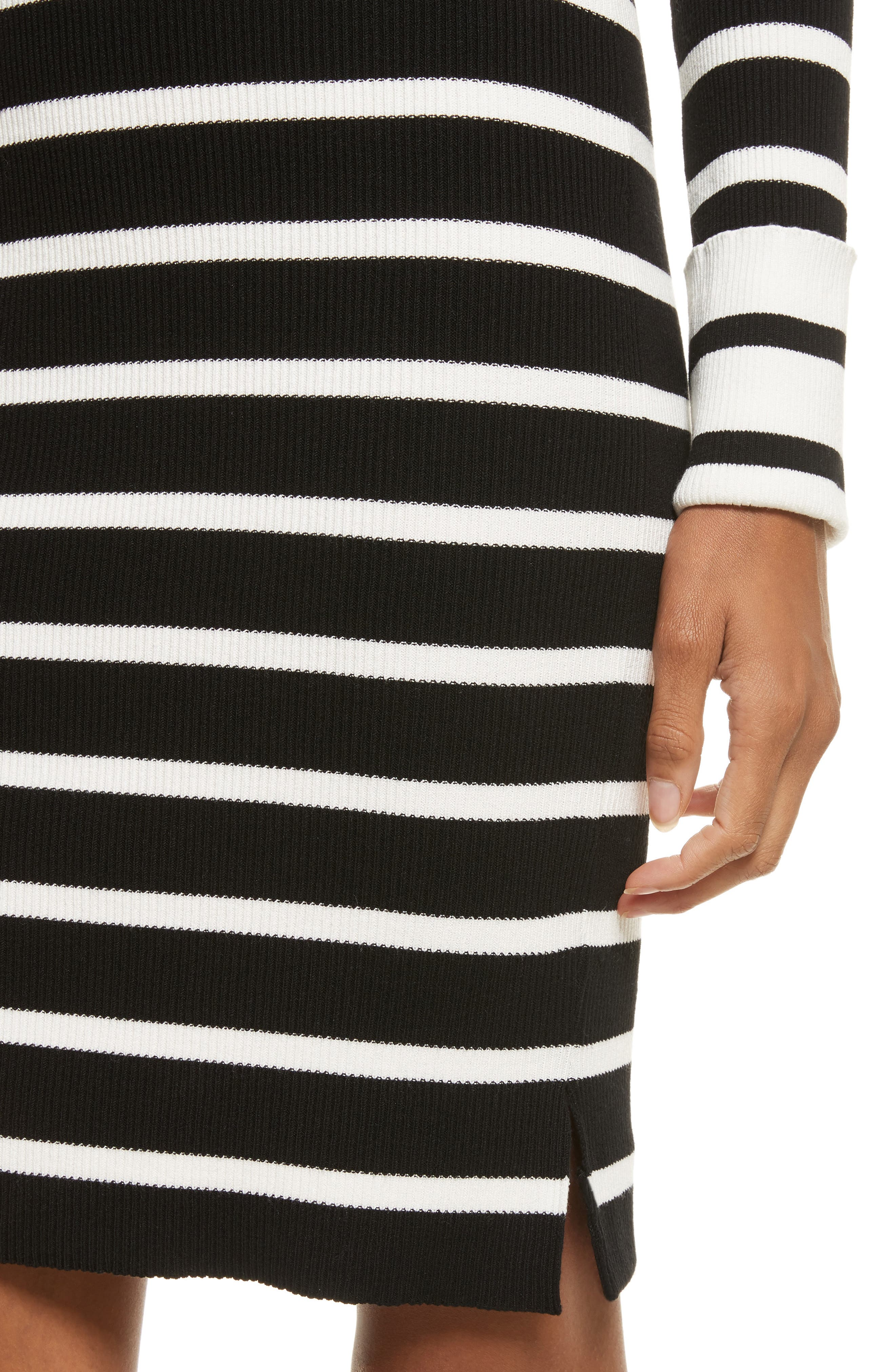 Prosecco Stripe Knit Dress,                             Alternate thumbnail 4, color,                             016