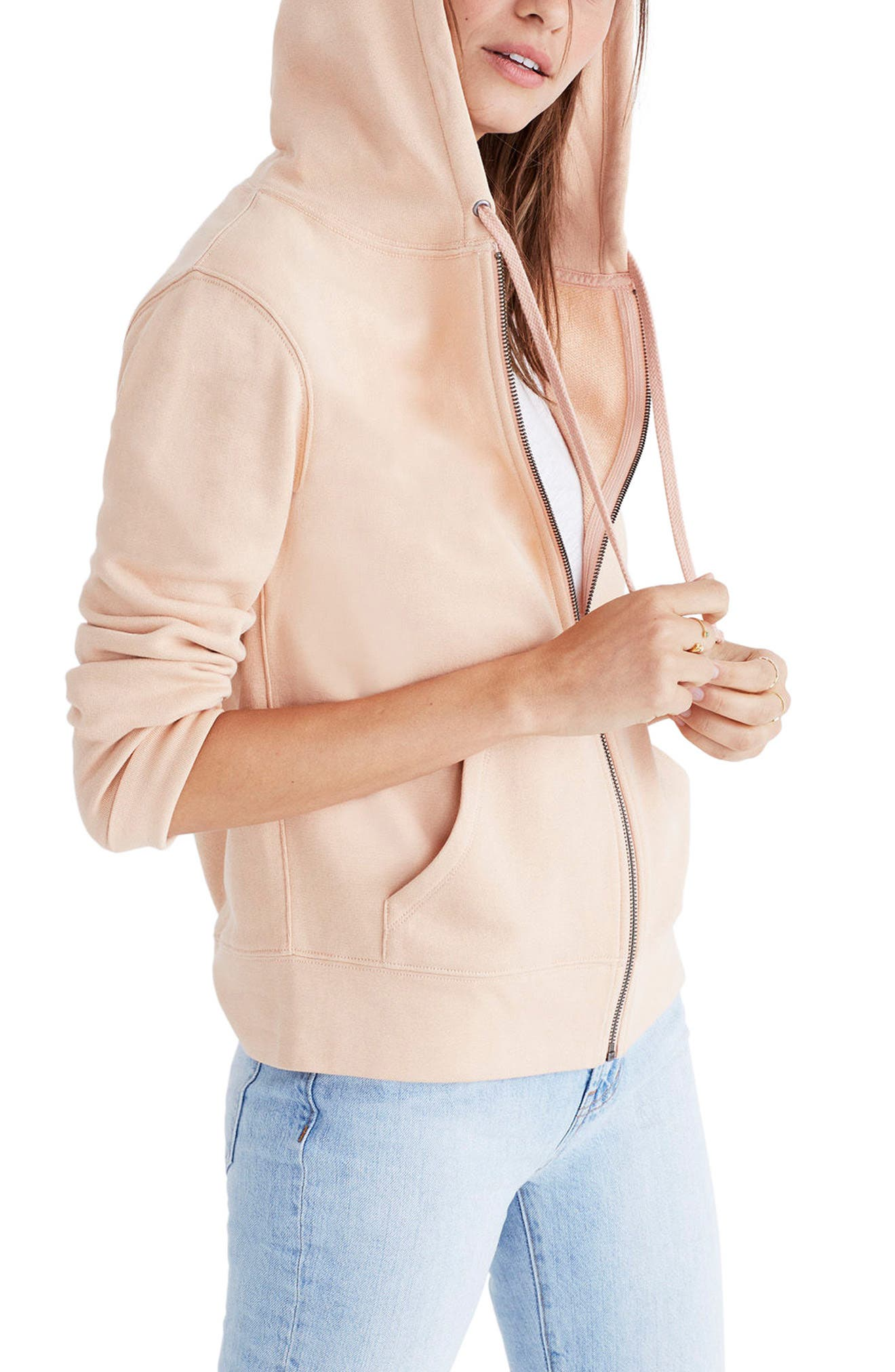 Embroidered Rainbow Zip Hoodie,                             Main thumbnail 1, color,                             650