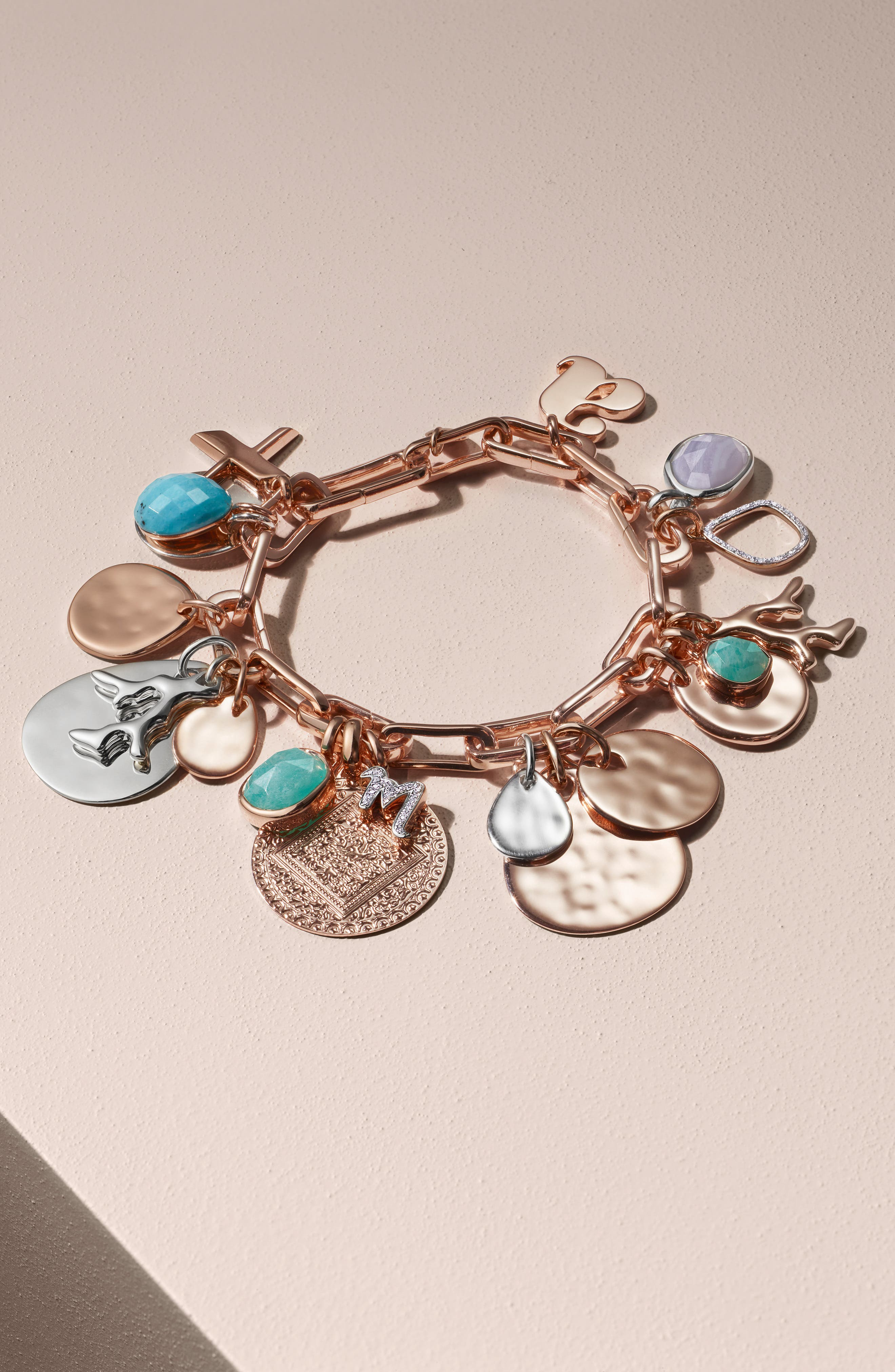 Alta Capture Link Chain Bracelet,                             Alternate thumbnail 9, color,                             ROSE GOLD