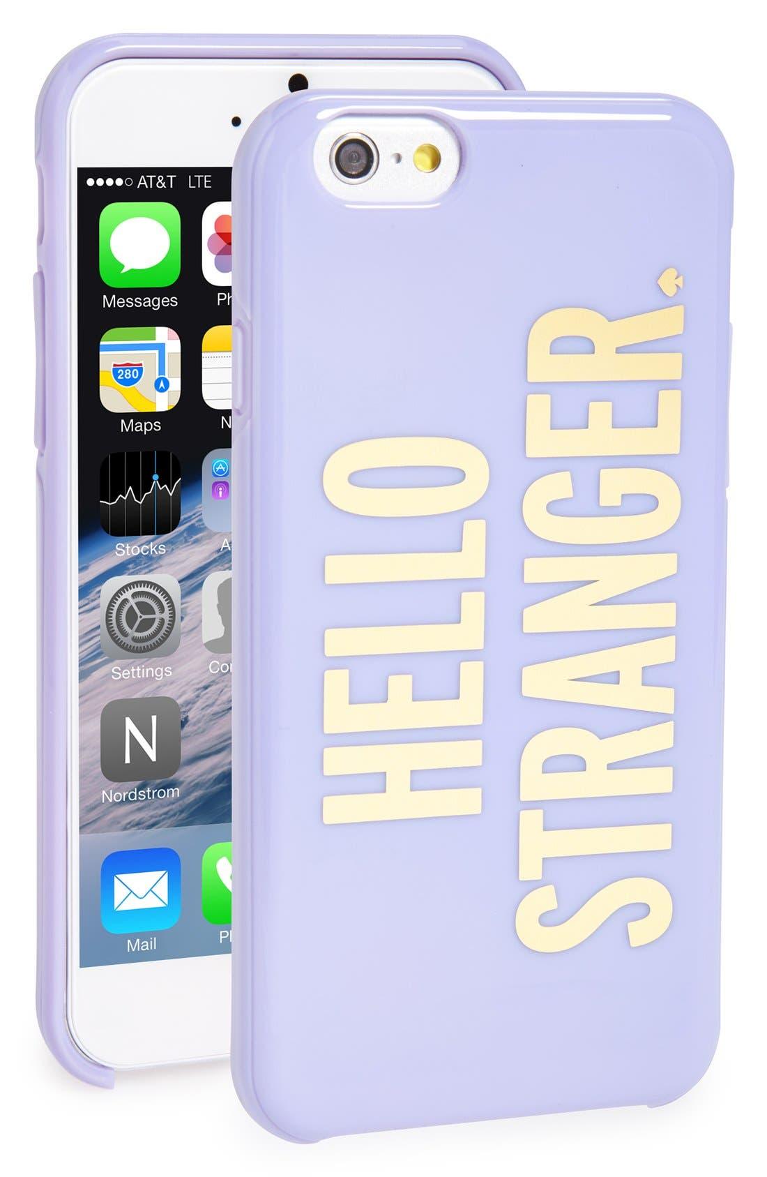 'hello stranger' iPhone 6 case,                             Main thumbnail 1, color,                             500