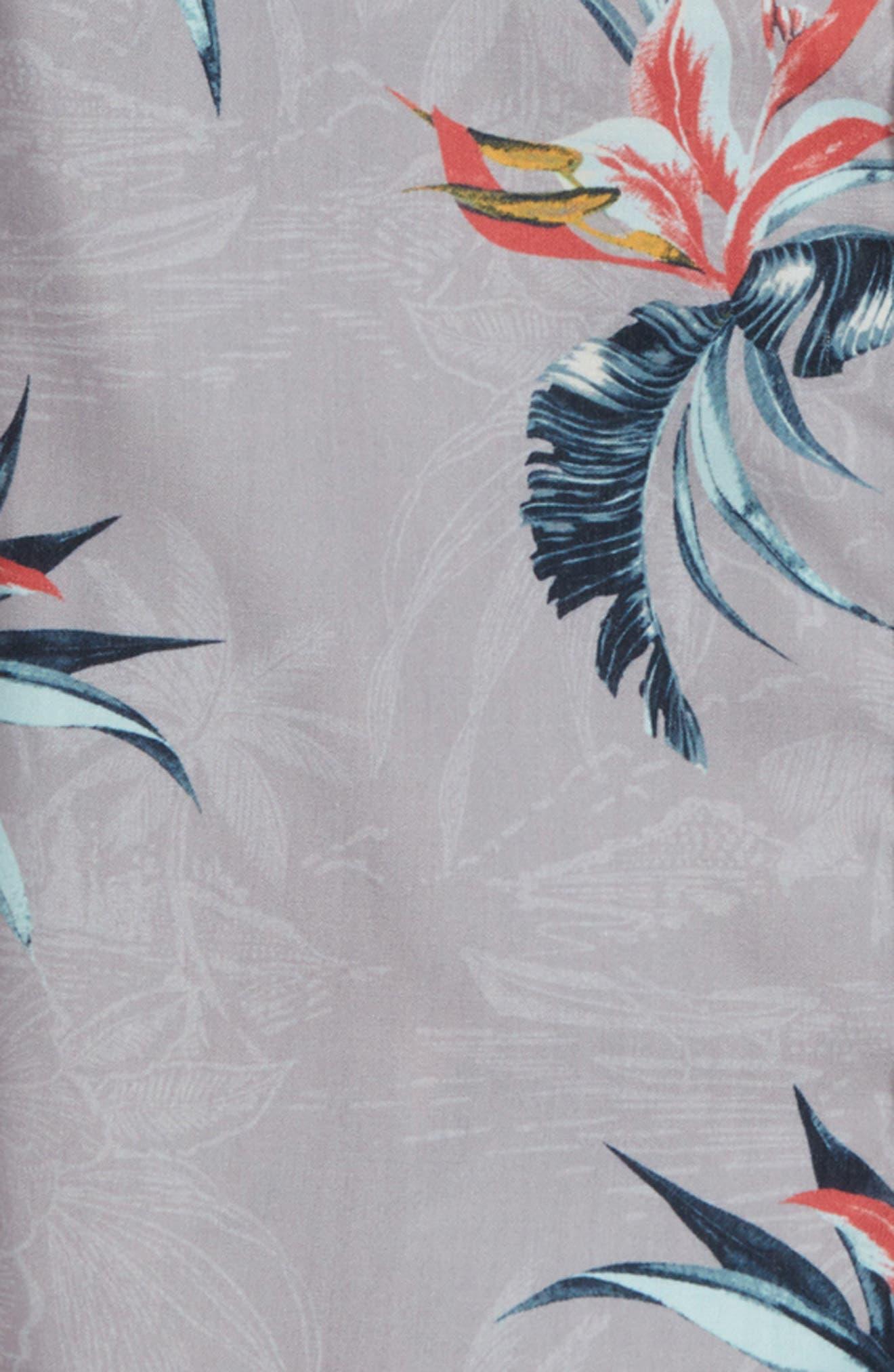 Islander Floral Print Woven Shirt,                             Alternate thumbnail 3, color,
