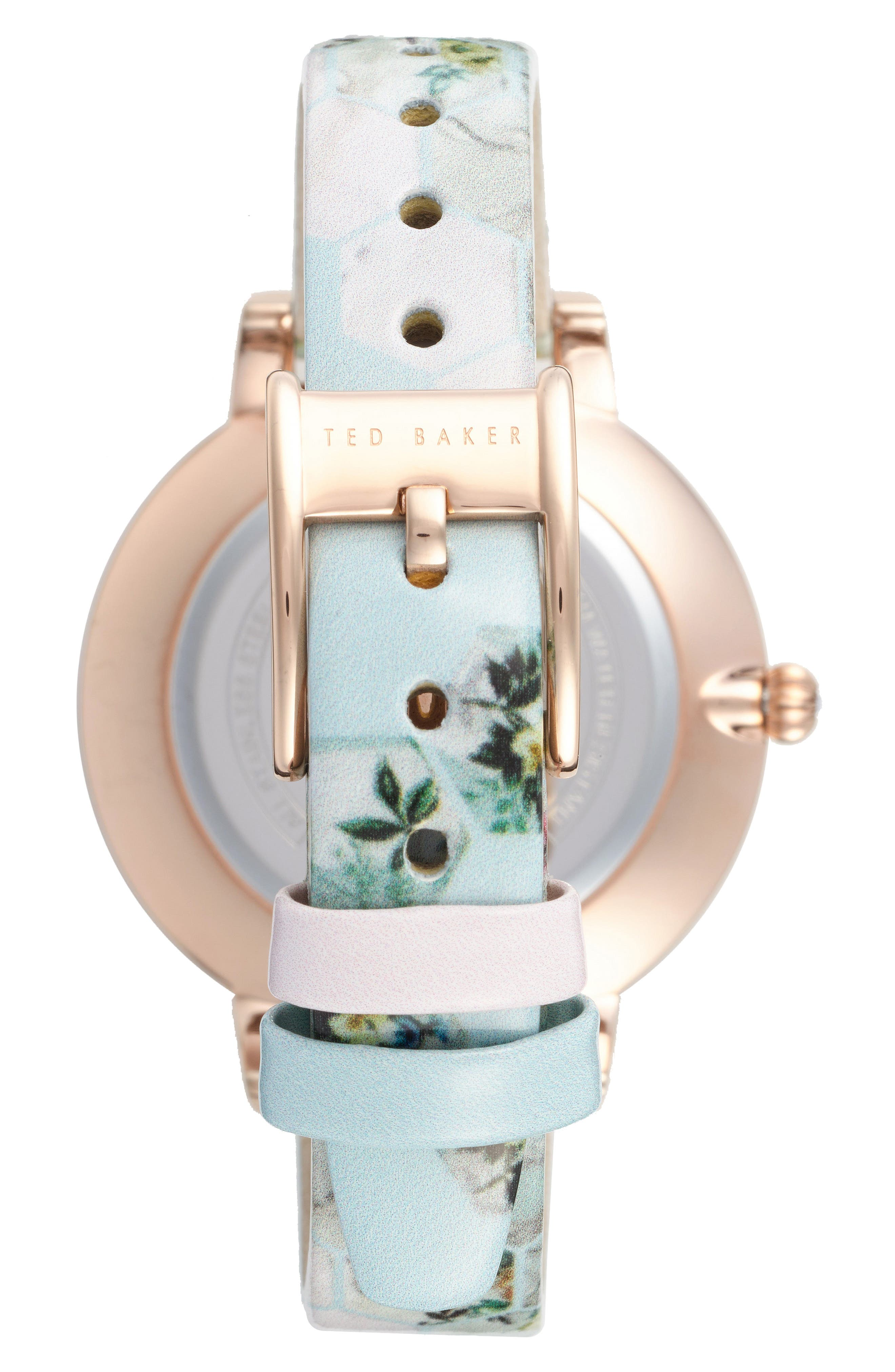 Kate Print Leather Strap Watch, 38mm,                             Alternate thumbnail 10, color,