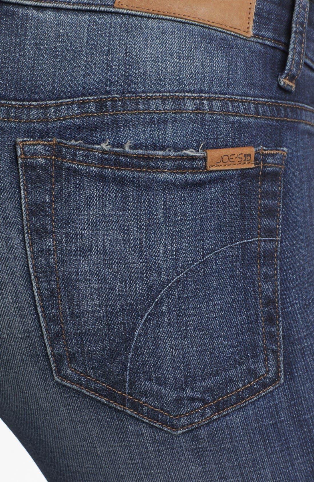 Straight Leg Ankle Jeans,                             Alternate thumbnail 3, color,                             400