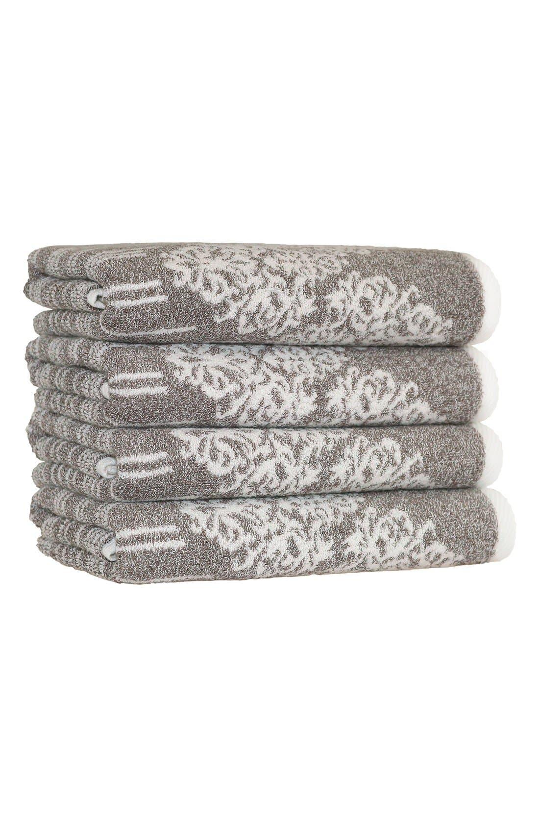 Linum 'Gioia' Turkish Cotton Hand Towels,                             Main thumbnail 1, color,                             200