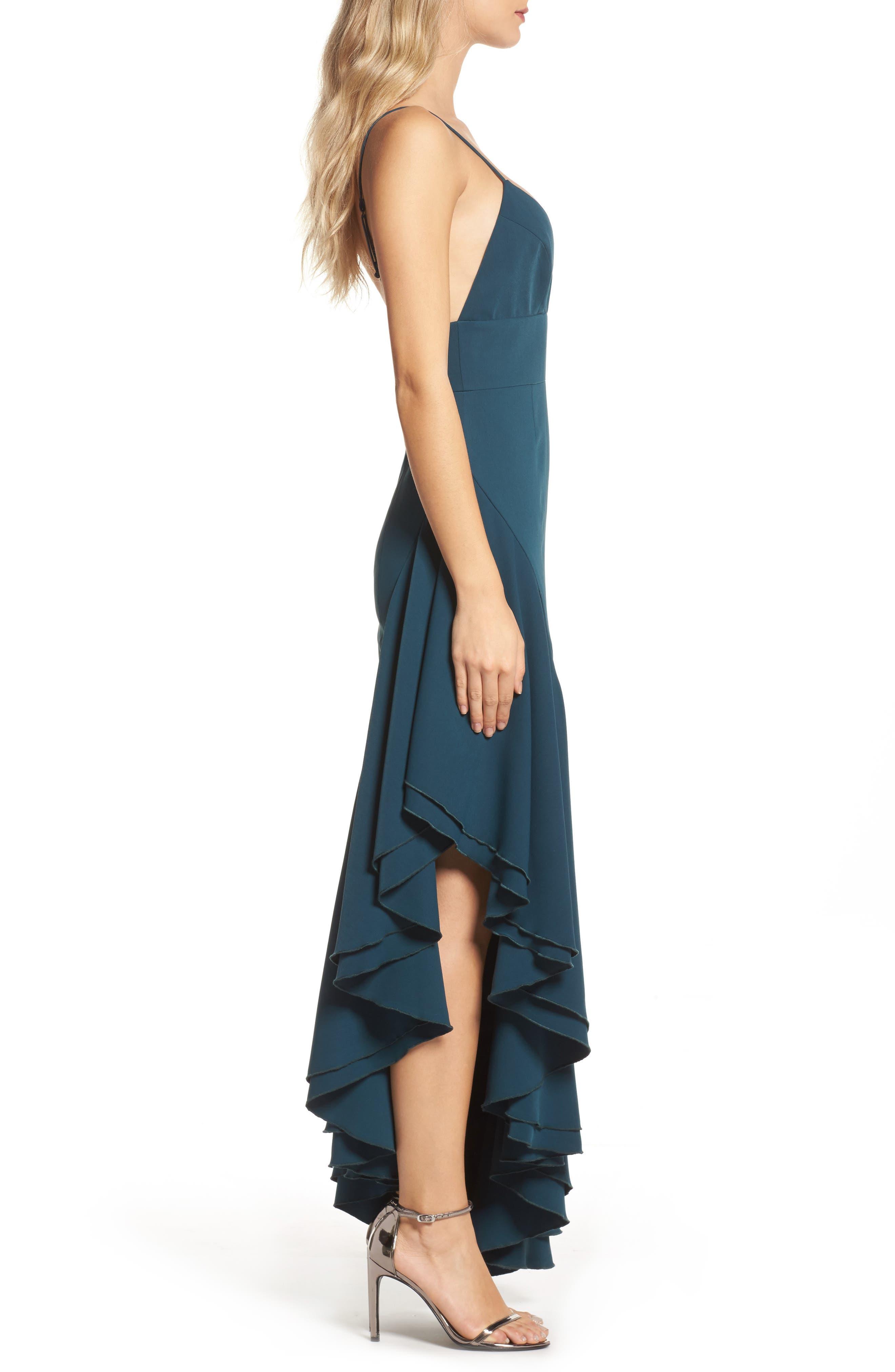 Temptation Asymmetrical Gown,                             Alternate thumbnail 3, color,                             300