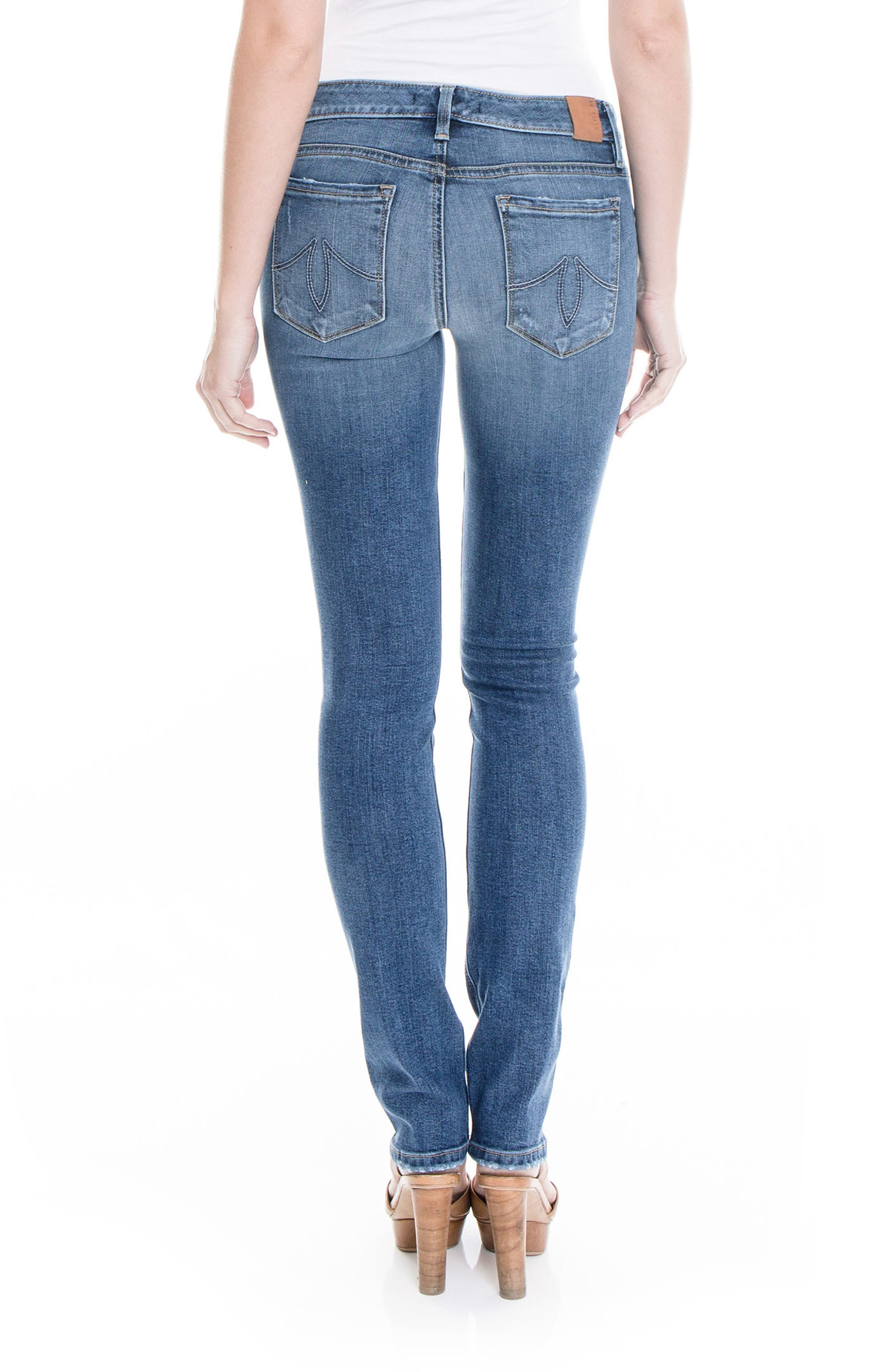 Lily Stretch Skinny Jeans,                             Alternate thumbnail 6, color,