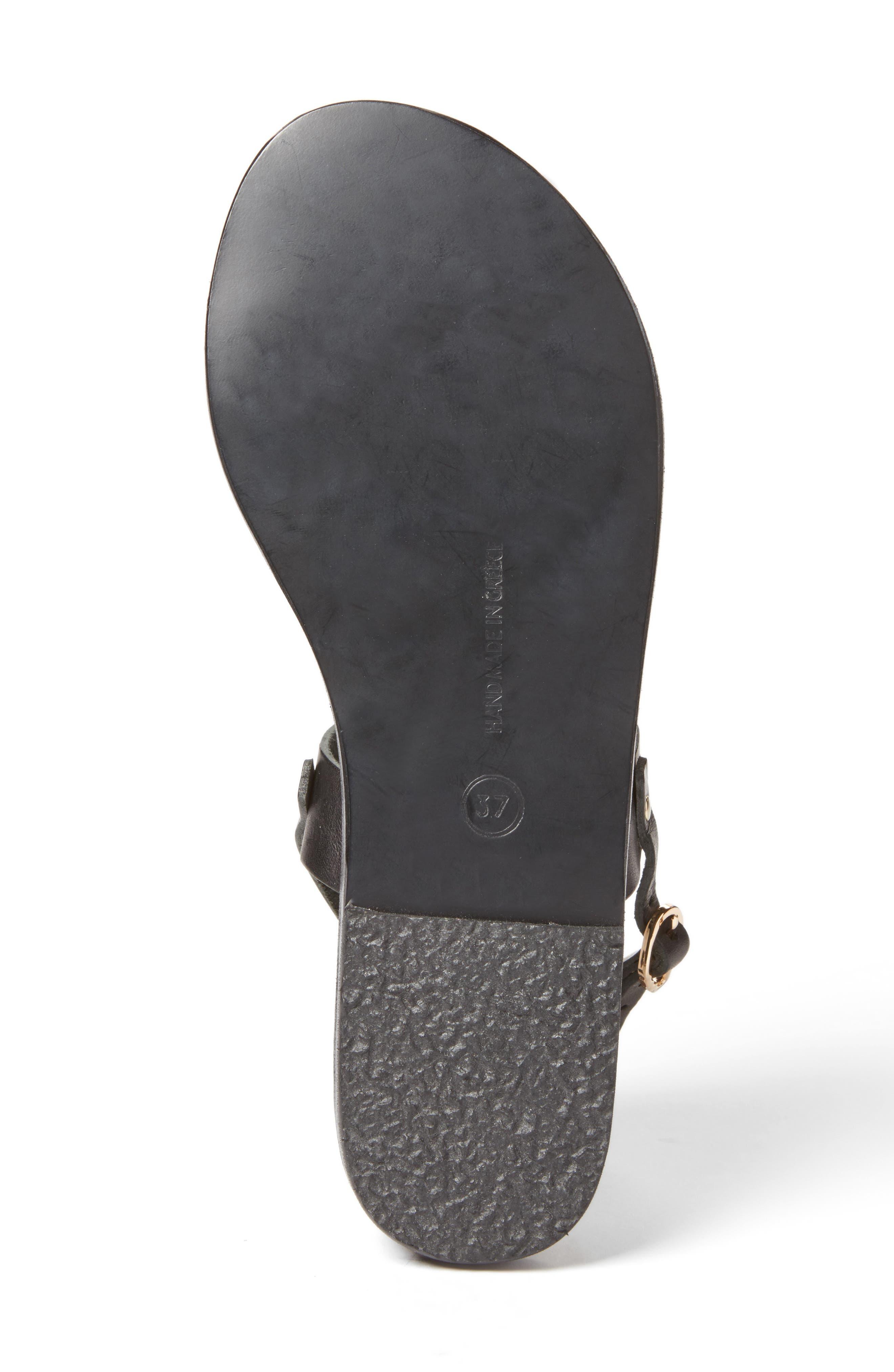 Clio Slingback Sandal,                             Alternate thumbnail 4, color,                             BLACK