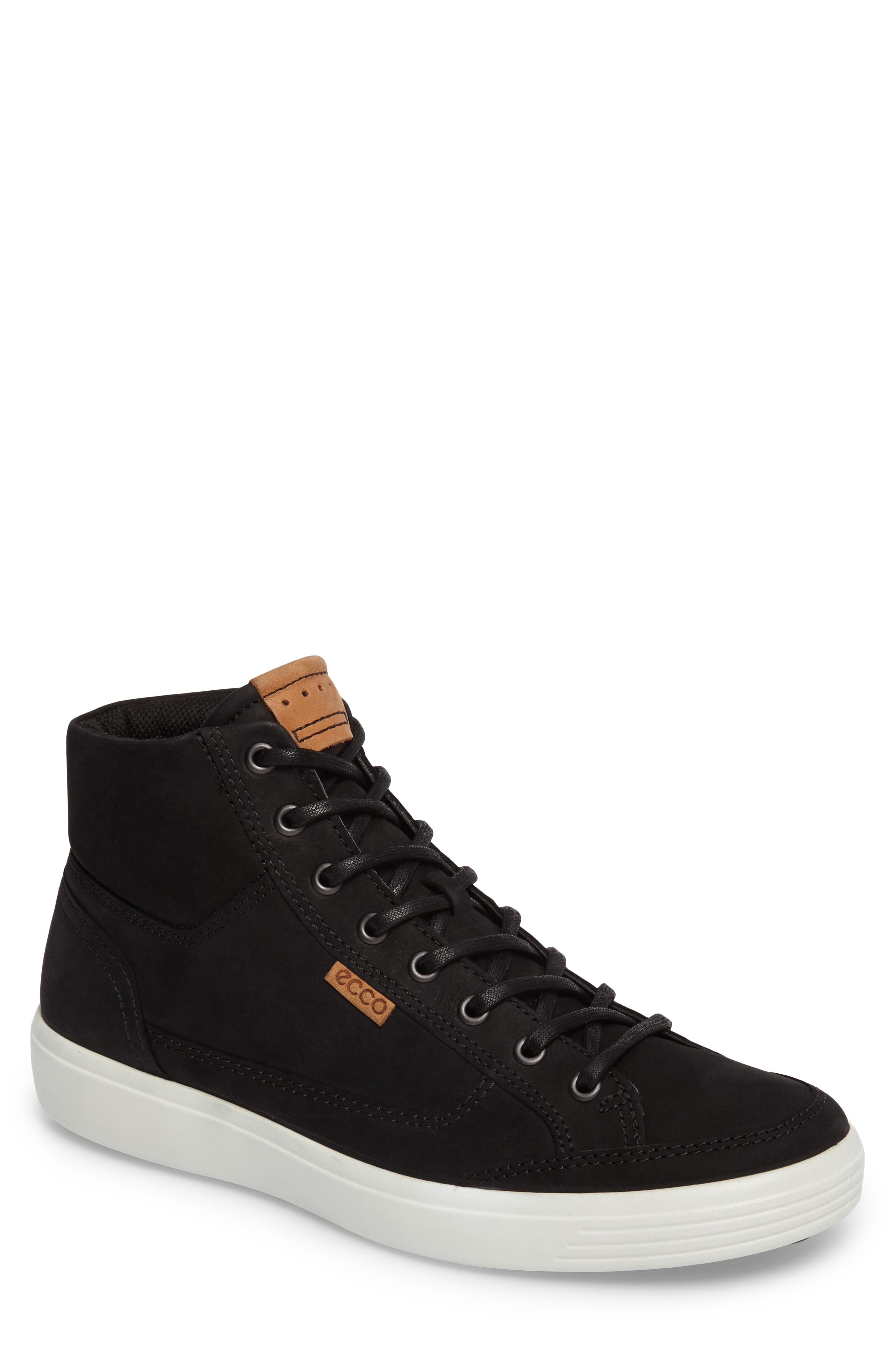 Soft 7 Sneaker,                         Main,                         color, BLACK LEATHER