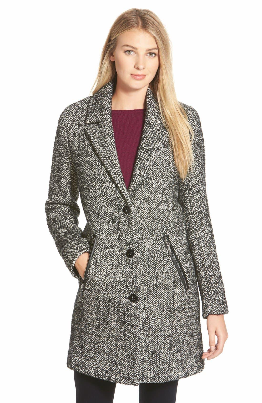 Tweed Walking Coat,                             Main thumbnail 1, color,                             081