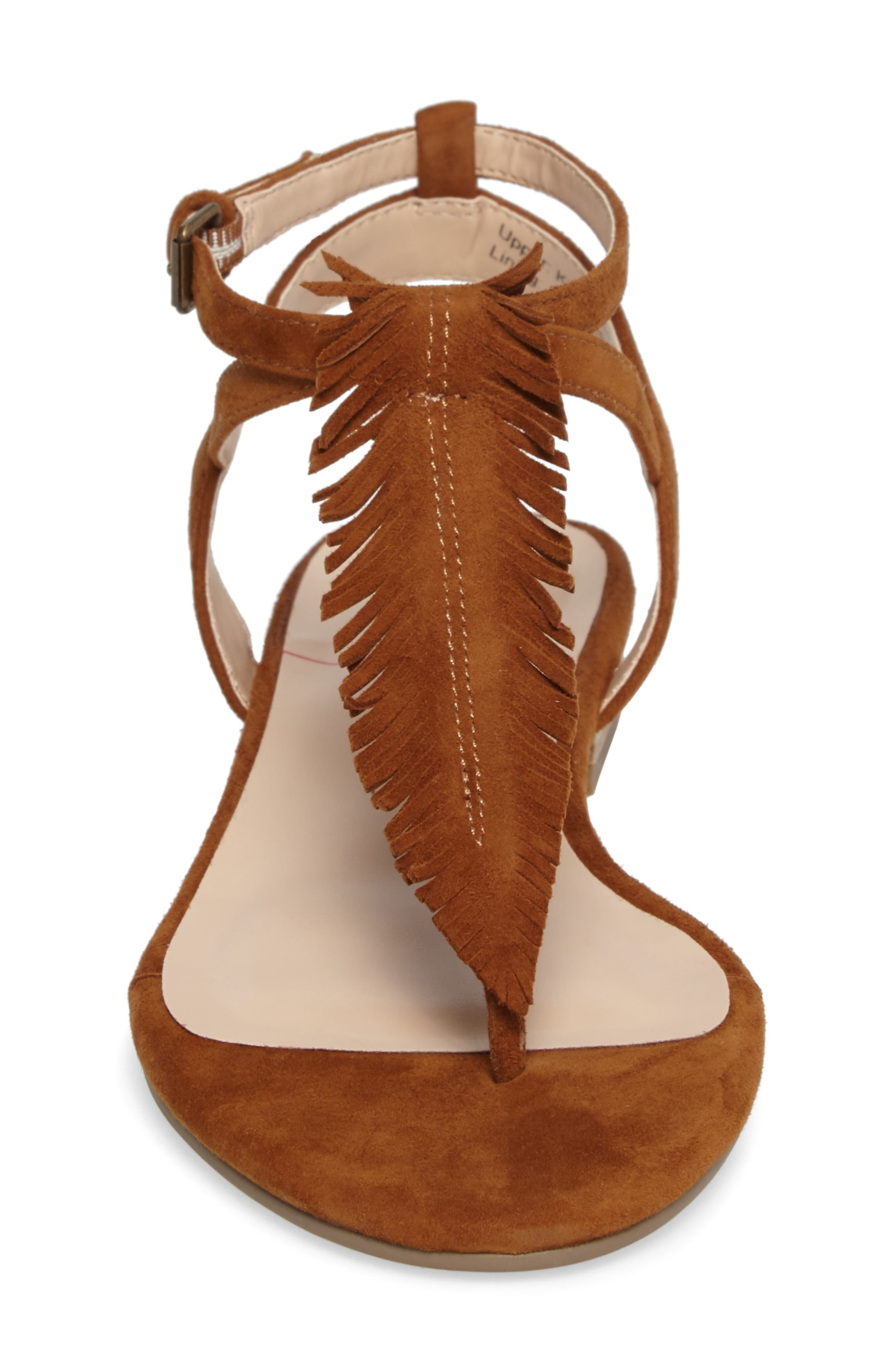 Mara Fringe Thong Sandal,                             Alternate thumbnail 4, color,                             210