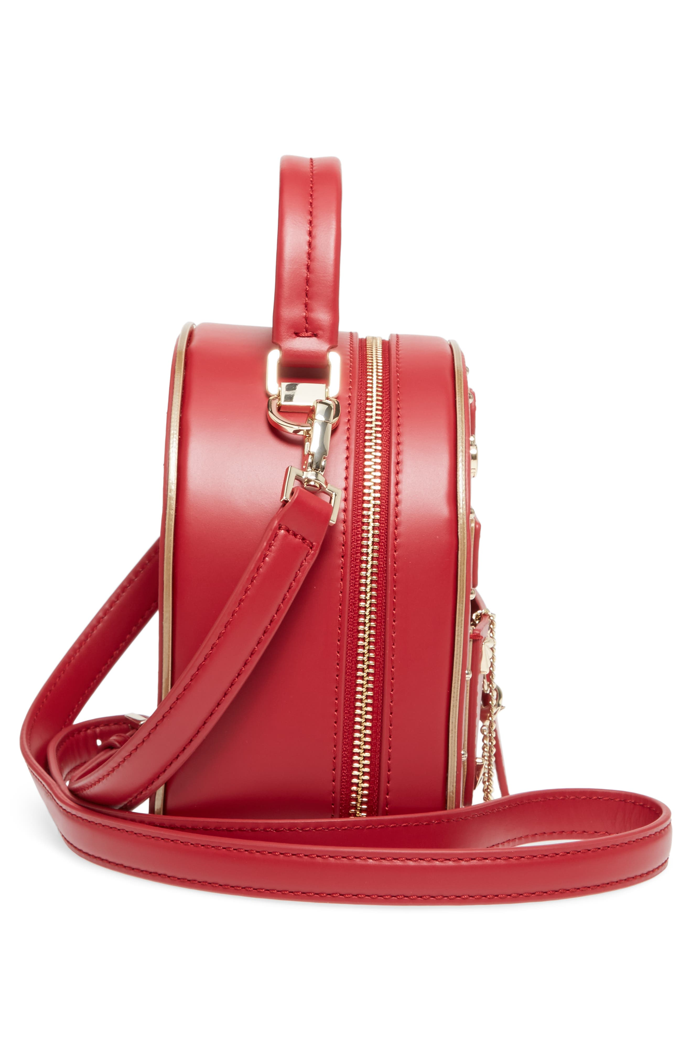 yours truly leather mailbox crossbody bag,                             Alternate thumbnail 5, color,