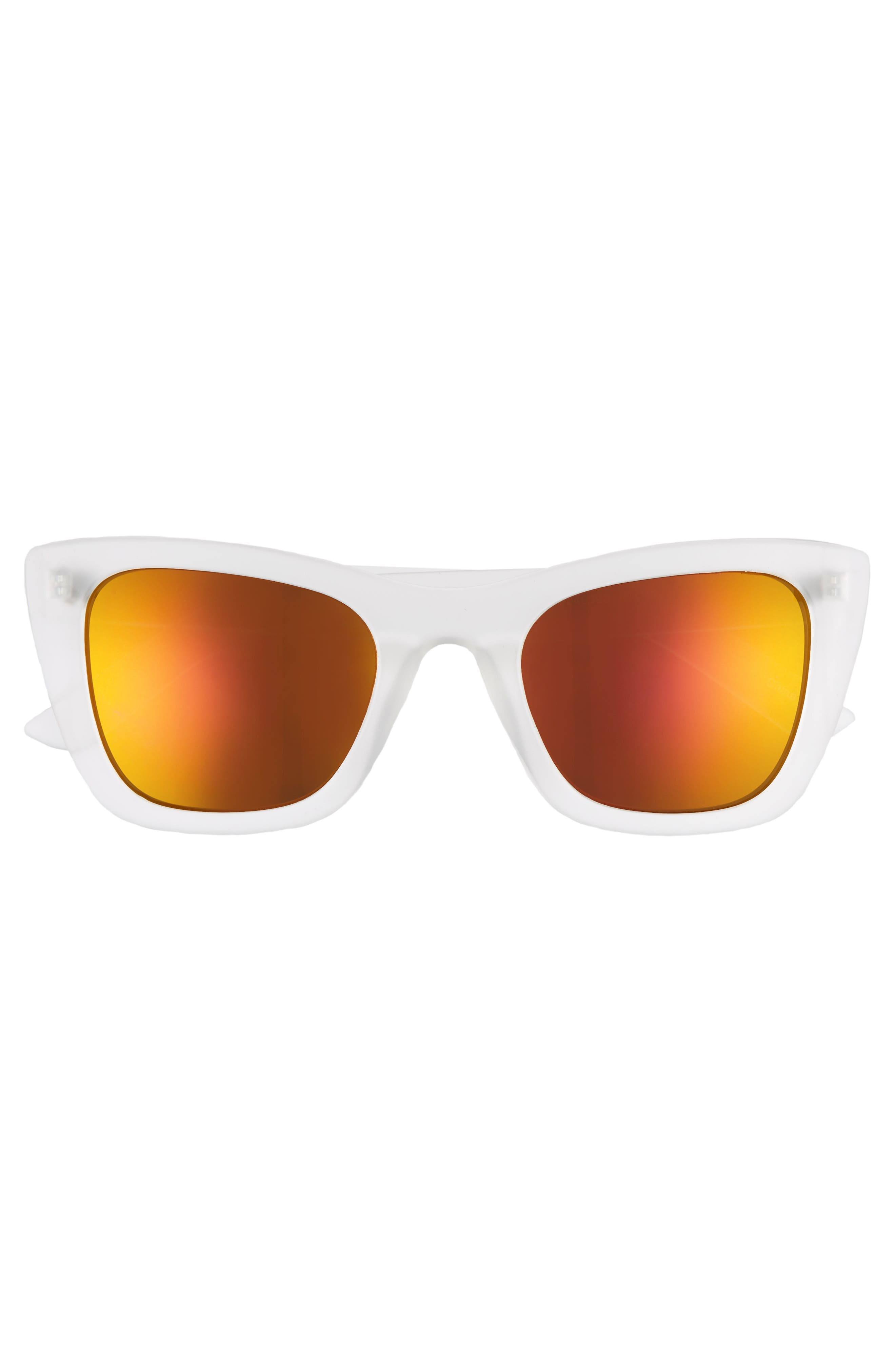 51mm Translucent Square Sunglasses,                             Alternate thumbnail 3, color,                             CLEAR/ GOLD