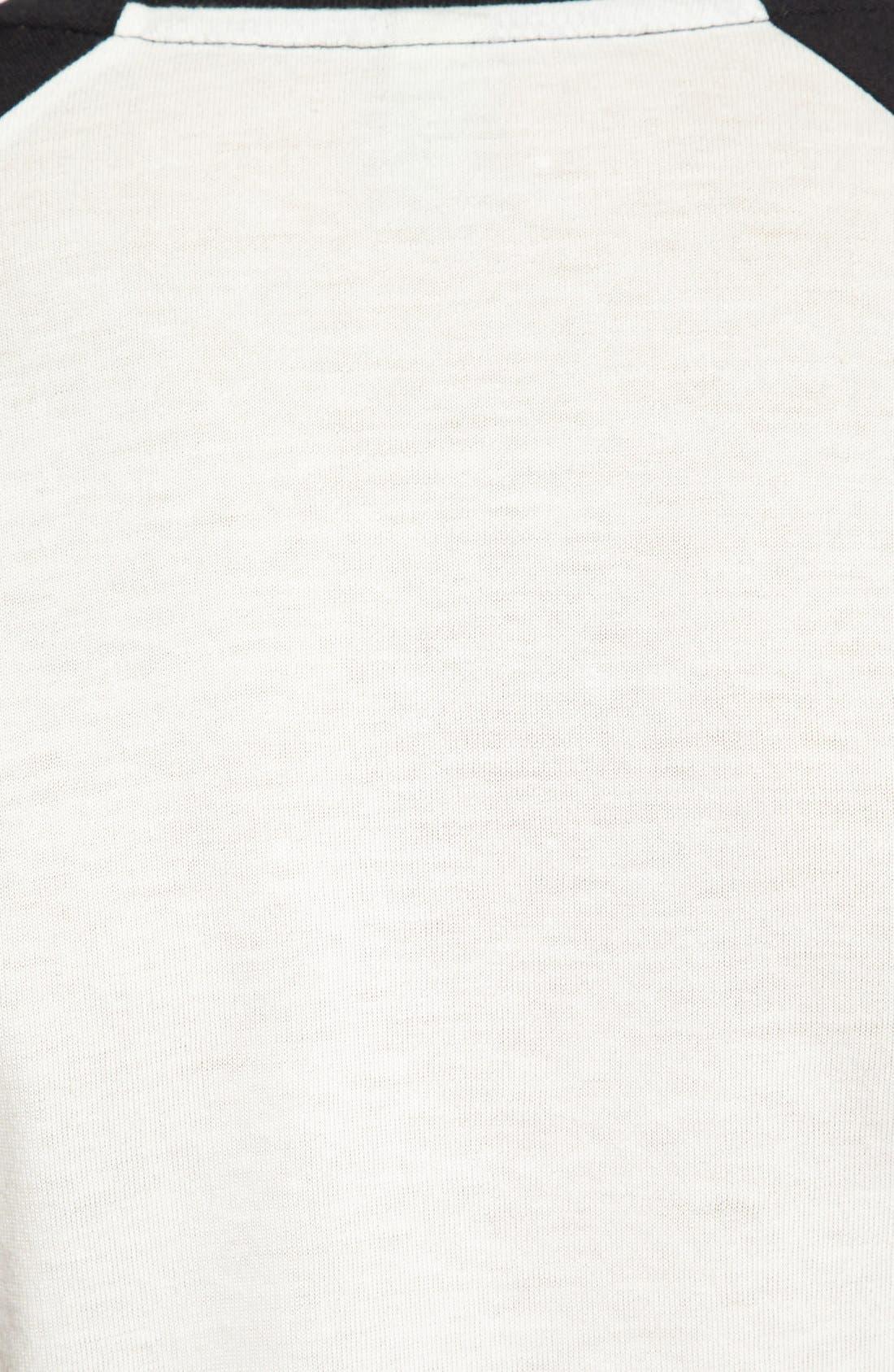 Colorblock Baseball T-Shirt,                             Alternate thumbnail 3, color,                             001