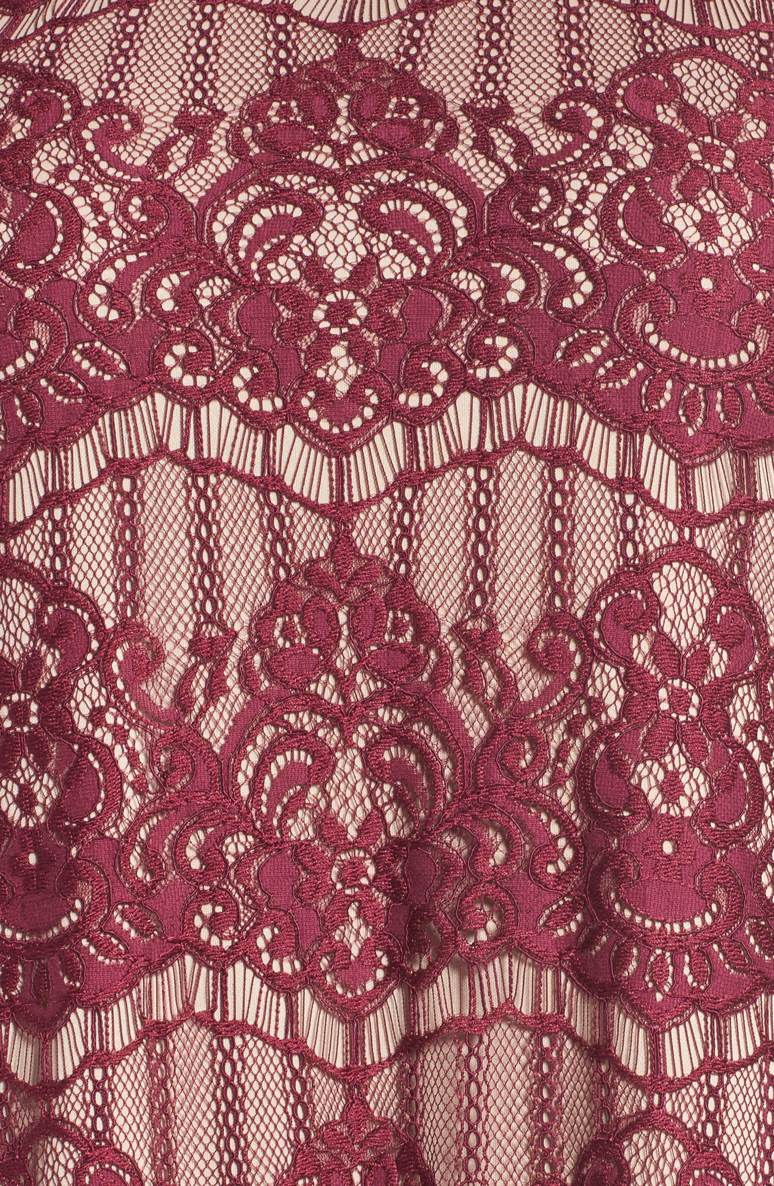 Scalloped Lace Trapeze Dress,                             Alternate thumbnail 5, color,