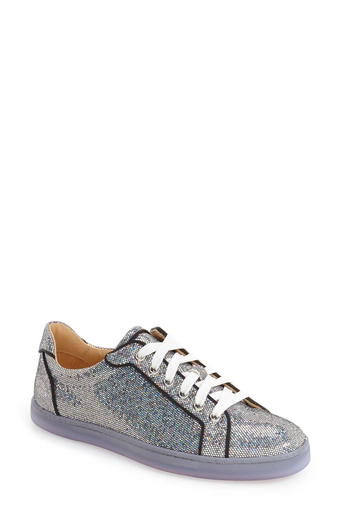 'Seava' Disco Ball Glitter Sneaker, Main, color, 040