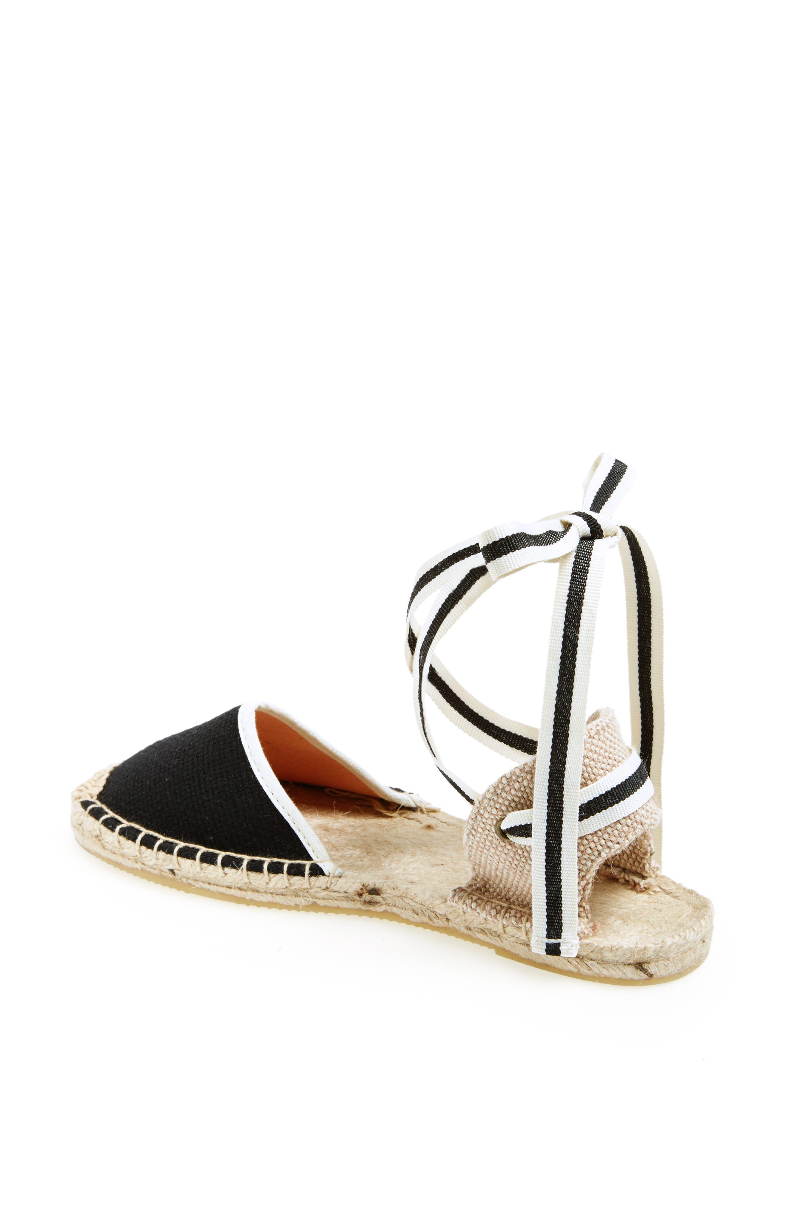 6f0fcc14f8f Soludos Lace-Up Espadrille Sandal- Black
