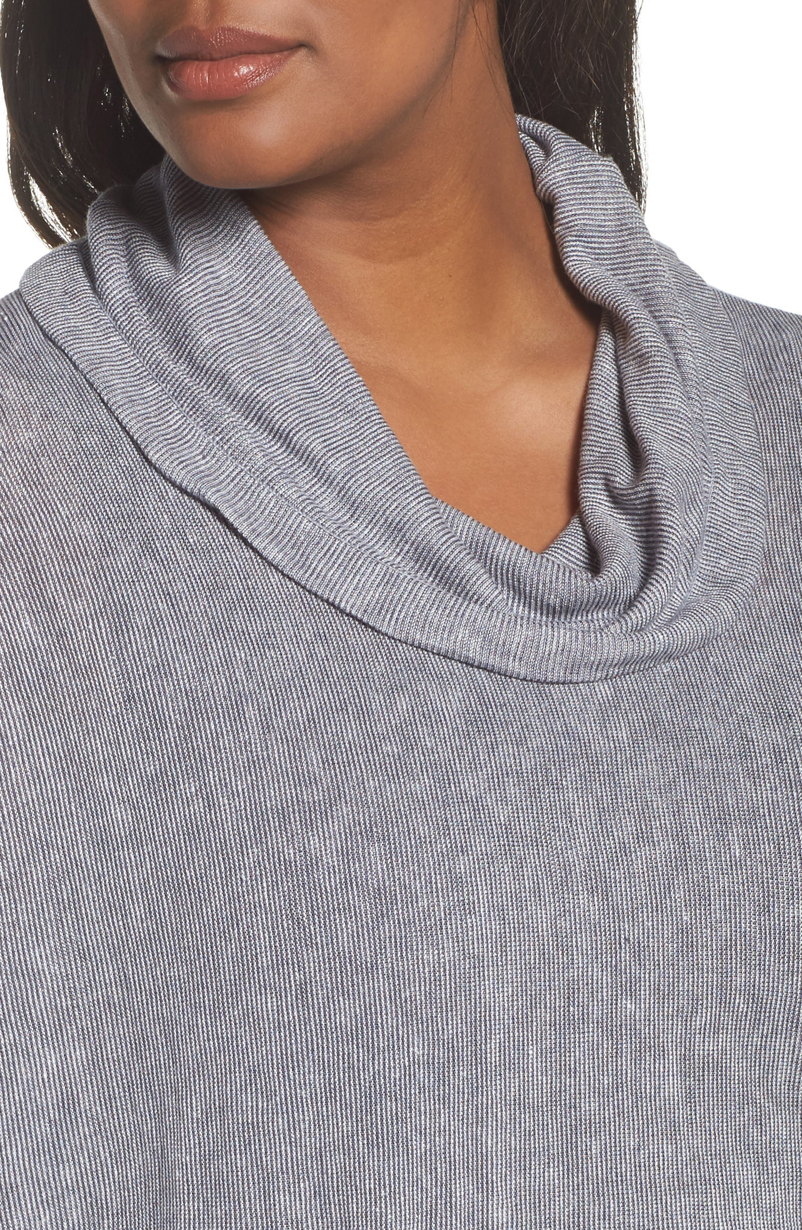 Blissful Cowl Neck Top,                             Alternate thumbnail 4, color,                             020