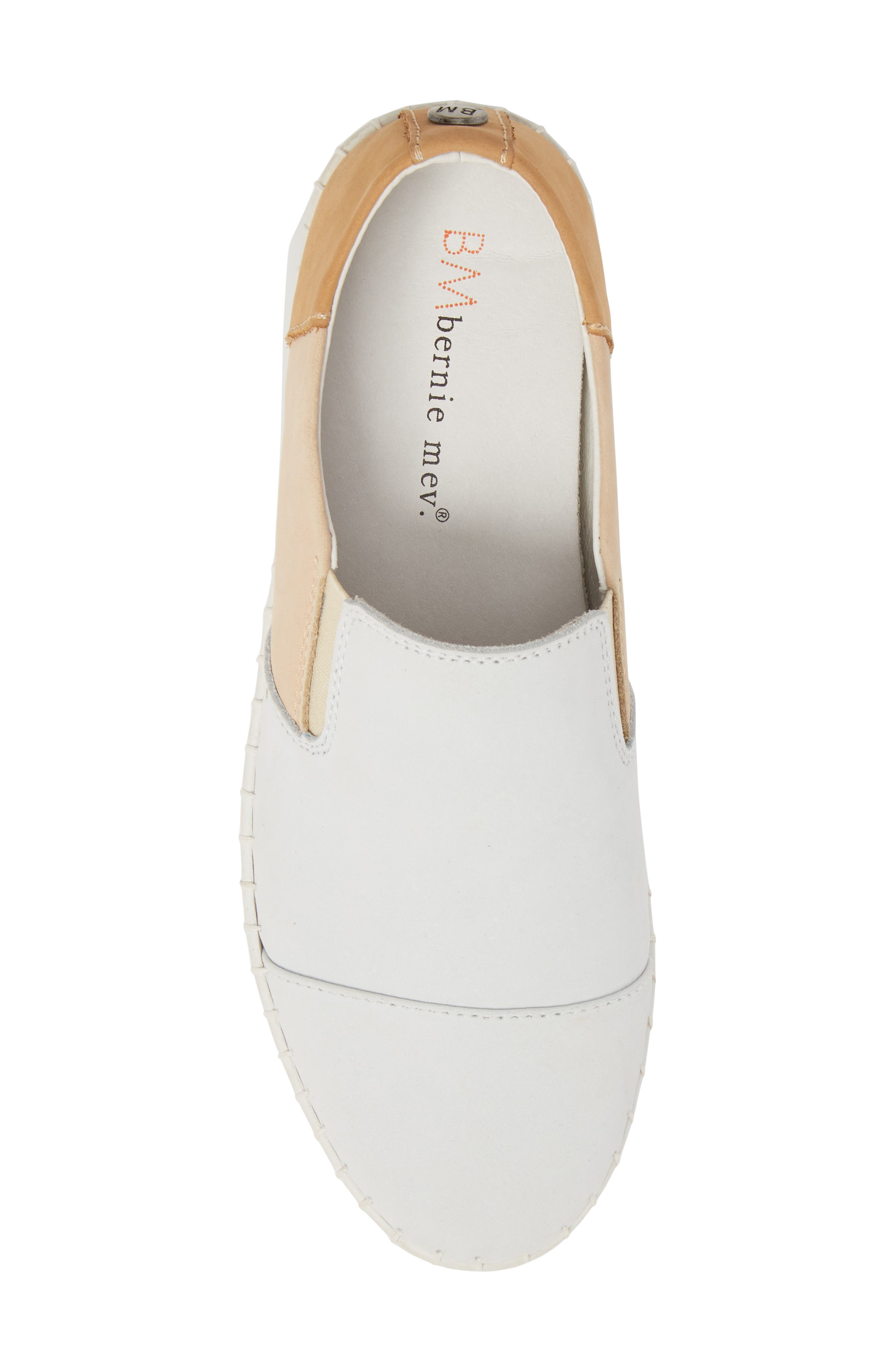 TW107 Slip-On Flat,                             Alternate thumbnail 5, color,                             NUDE MIX LEATHER
