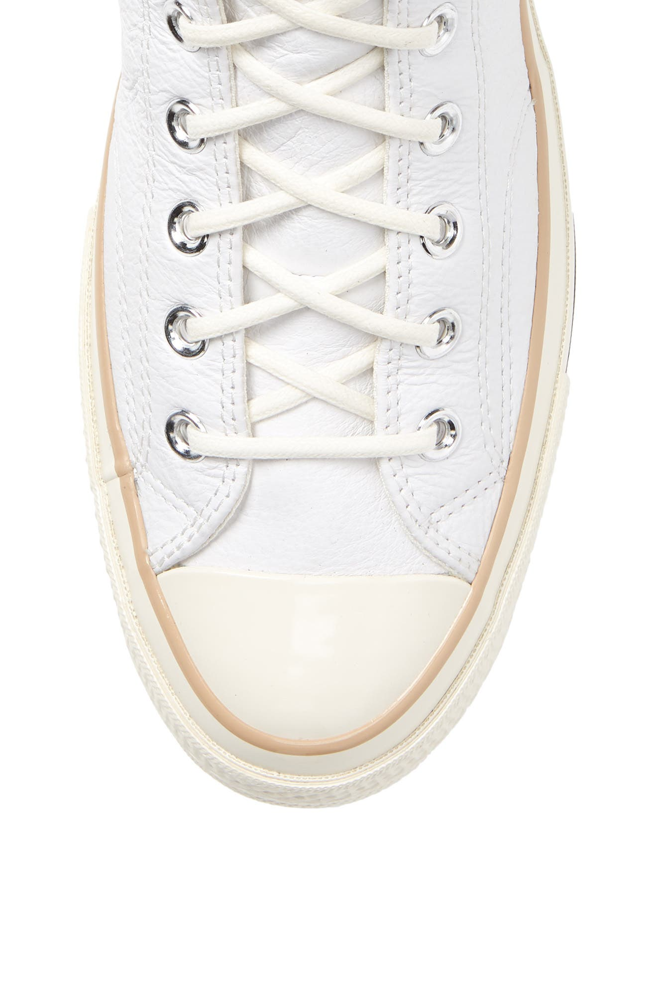 Chuck 70 Boot Leather High Top Sneaker,                             Alternate thumbnail 5, color,                             WHITE/ LIGHT FAWN/ EGRET