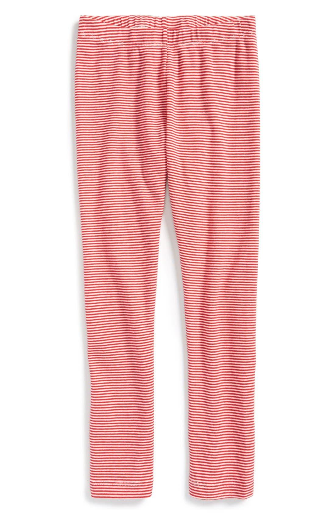 Stripe Cotton Leggings,                             Main thumbnail 4, color,