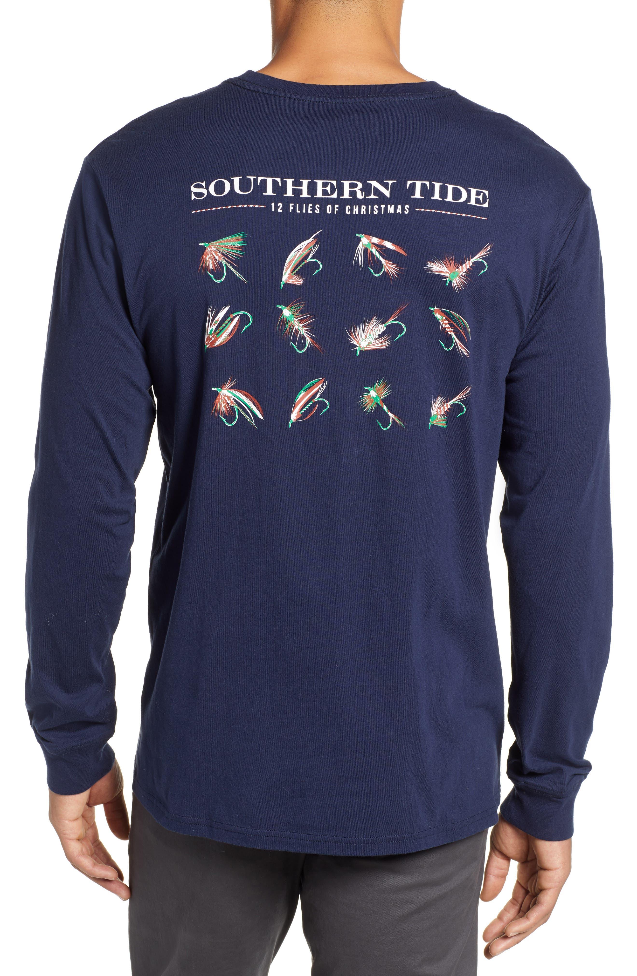 12 Flies of Christmas T-Shirt,                             Alternate thumbnail 2, color,                             TRUE NAVY