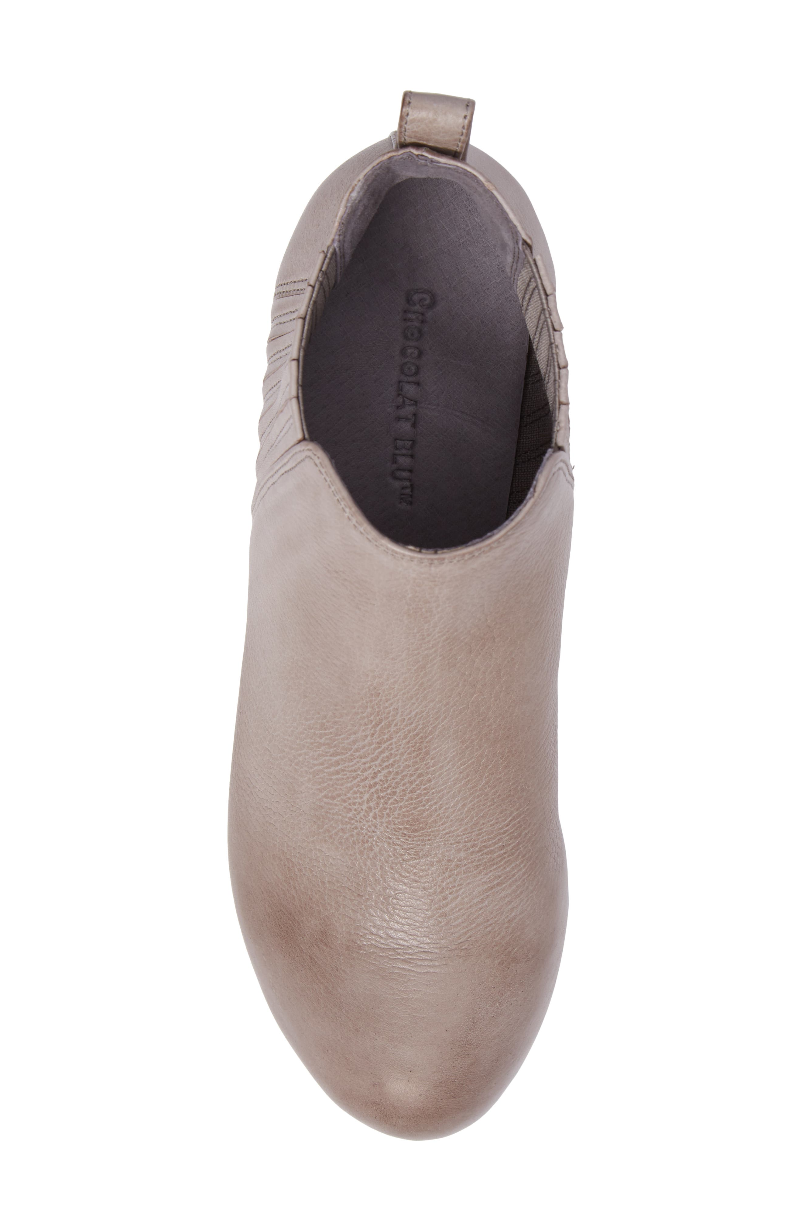 Walden Wedge Bootie,                             Alternate thumbnail 5, color,                             GREY LEATHER