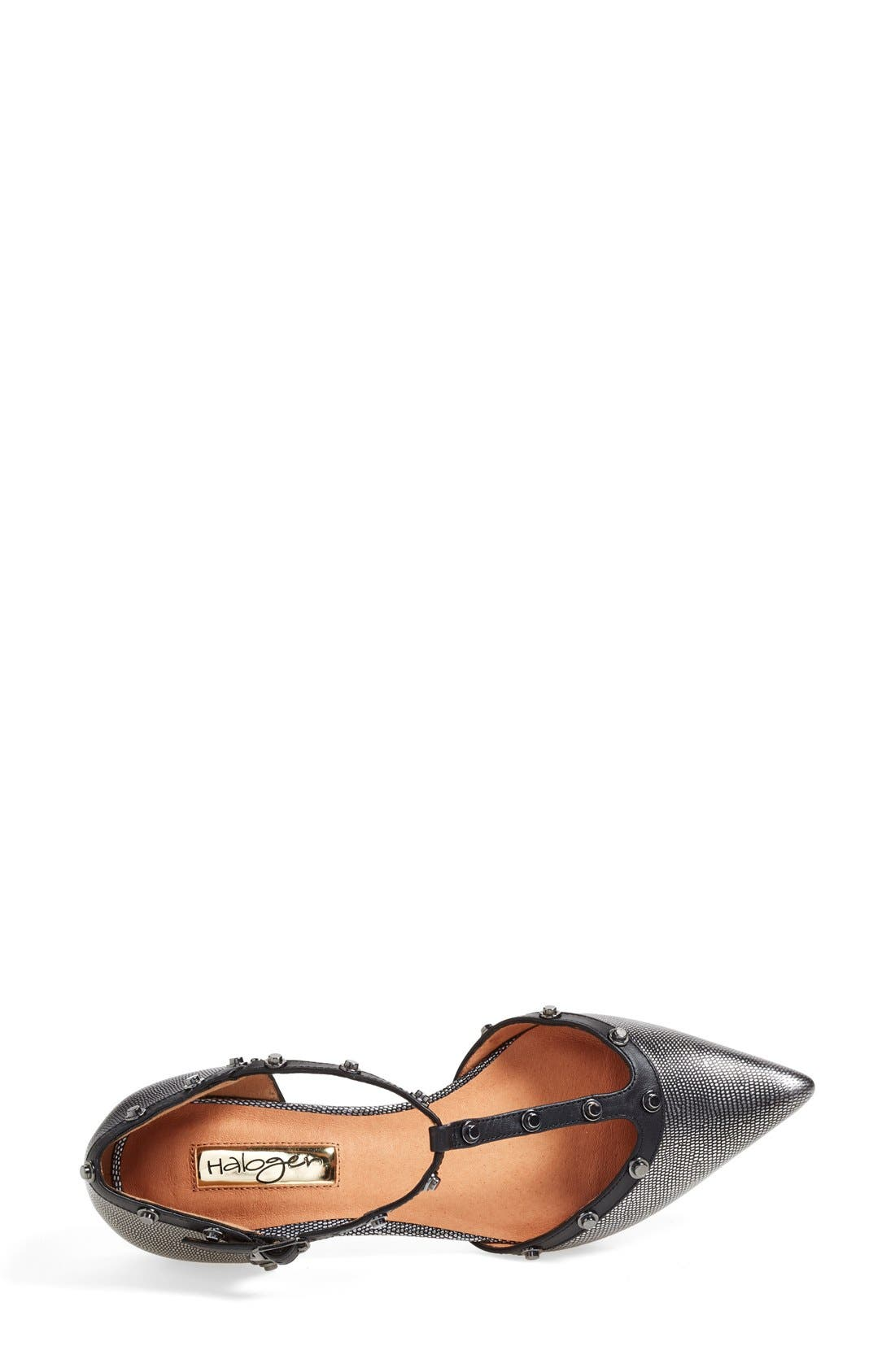 'Olson' Pointy Toe Studded T-Strap Flat,                             Alternate thumbnail 39, color,