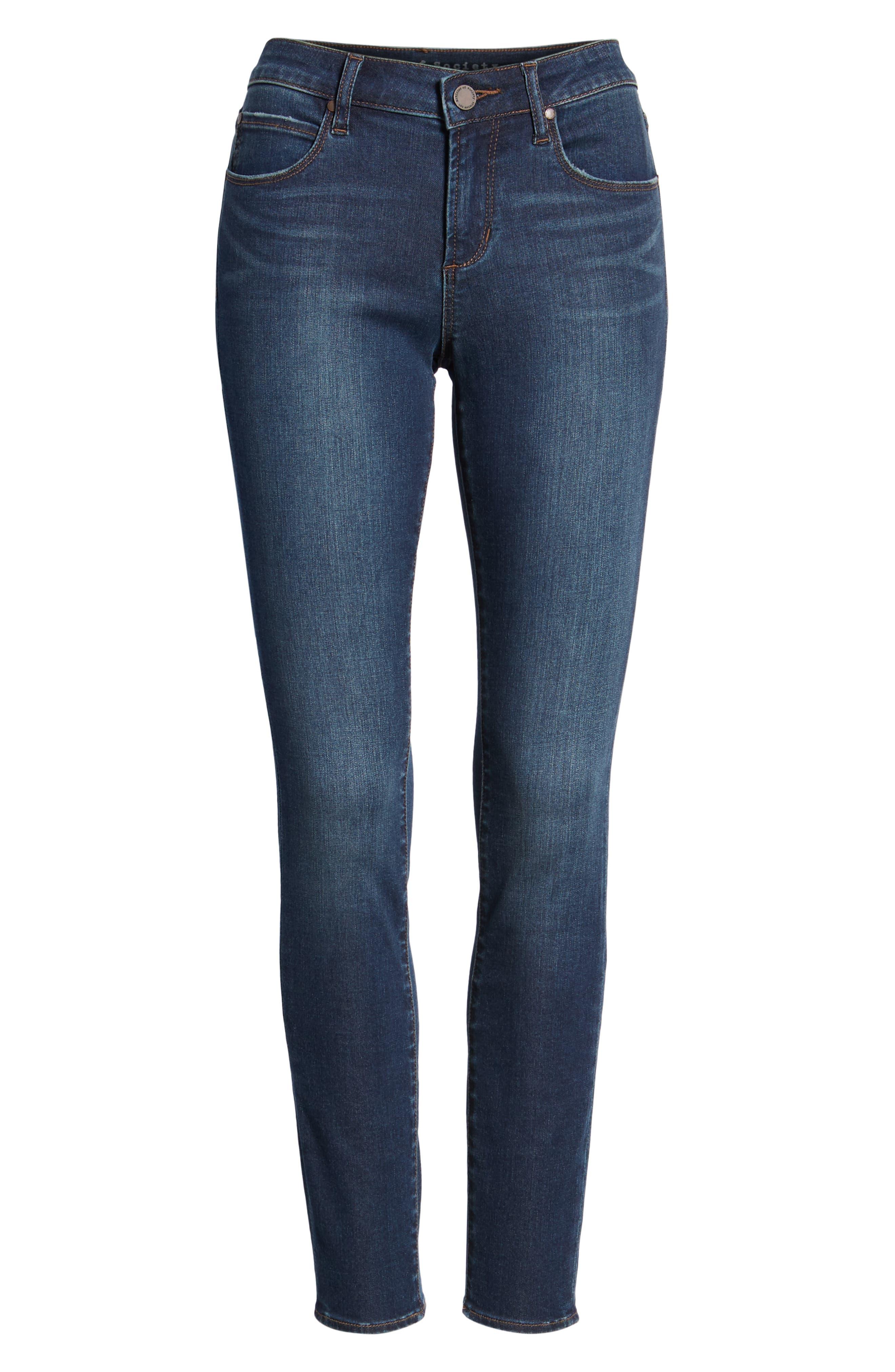 Sarah Skinny Jeans,                             Alternate thumbnail 7, color,                             SILVER LAKE