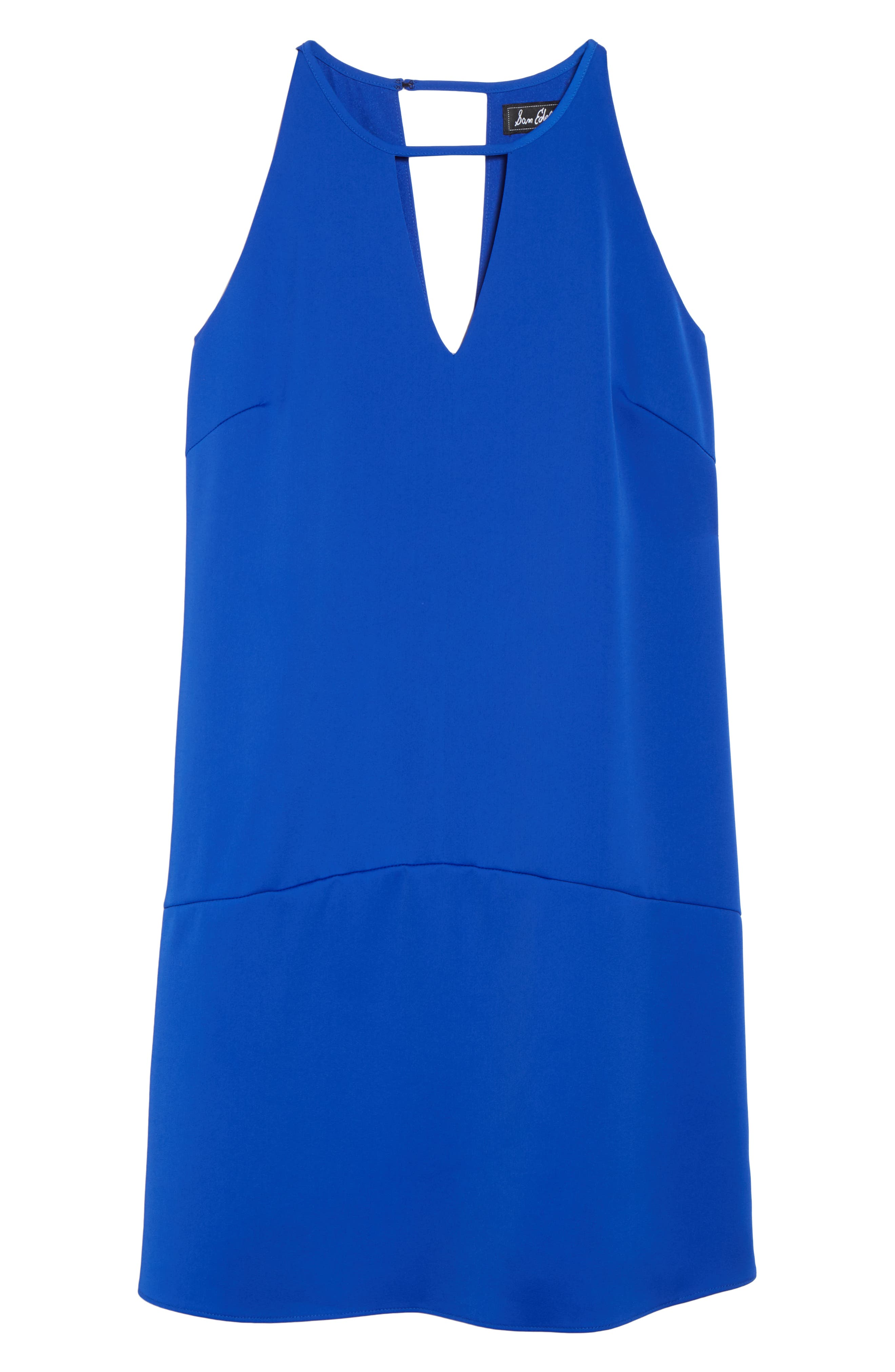Keyhole Shift Dress,                             Alternate thumbnail 7, color,                             ROYAL BLUE