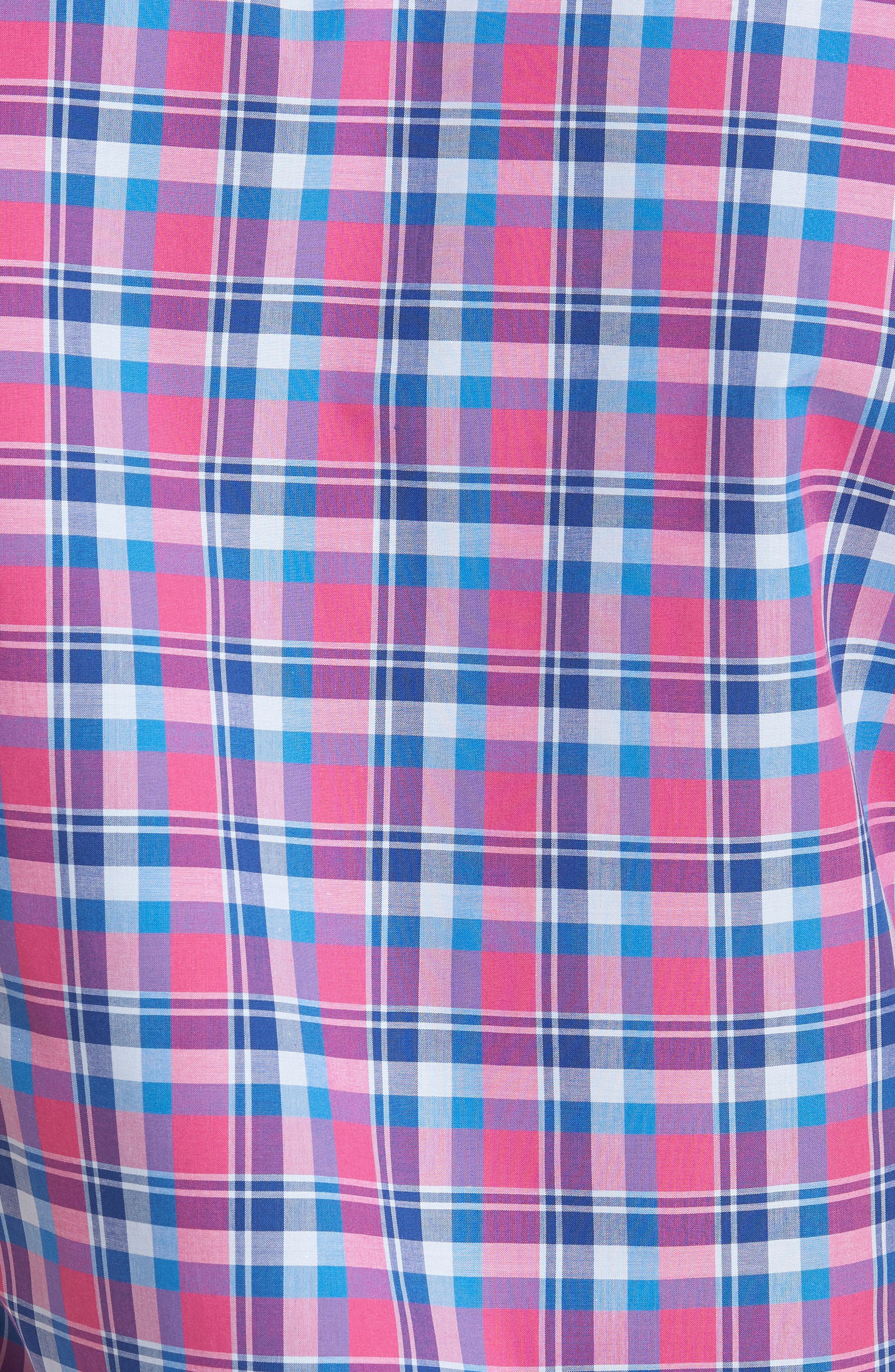 Sloane Regular Fit Plaid Sport Shirt,                             Alternate thumbnail 5, color,